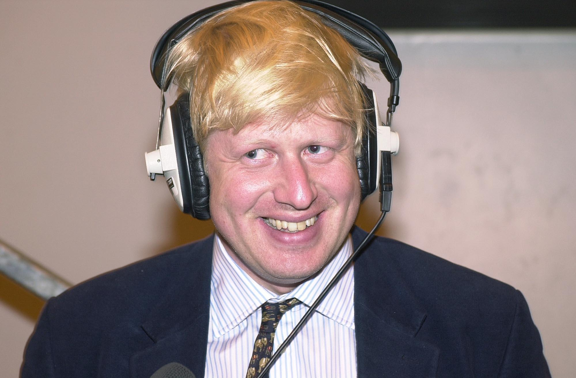 Journalist Boris Johnson during a radio broadcast, at the count in Watlington, Oxfordshire, after winning the Henley seat for the Conservatives in the 2001 General Election. The seat was Michael Heseltine's, who has stepped down at this election. 13/11/2004  Boris Johnson who was Saturday November 13 2004, sacked from the Conservative frontbench amid fresh allegations about his private life, a spokesman for Tory leader Michael Howard said.