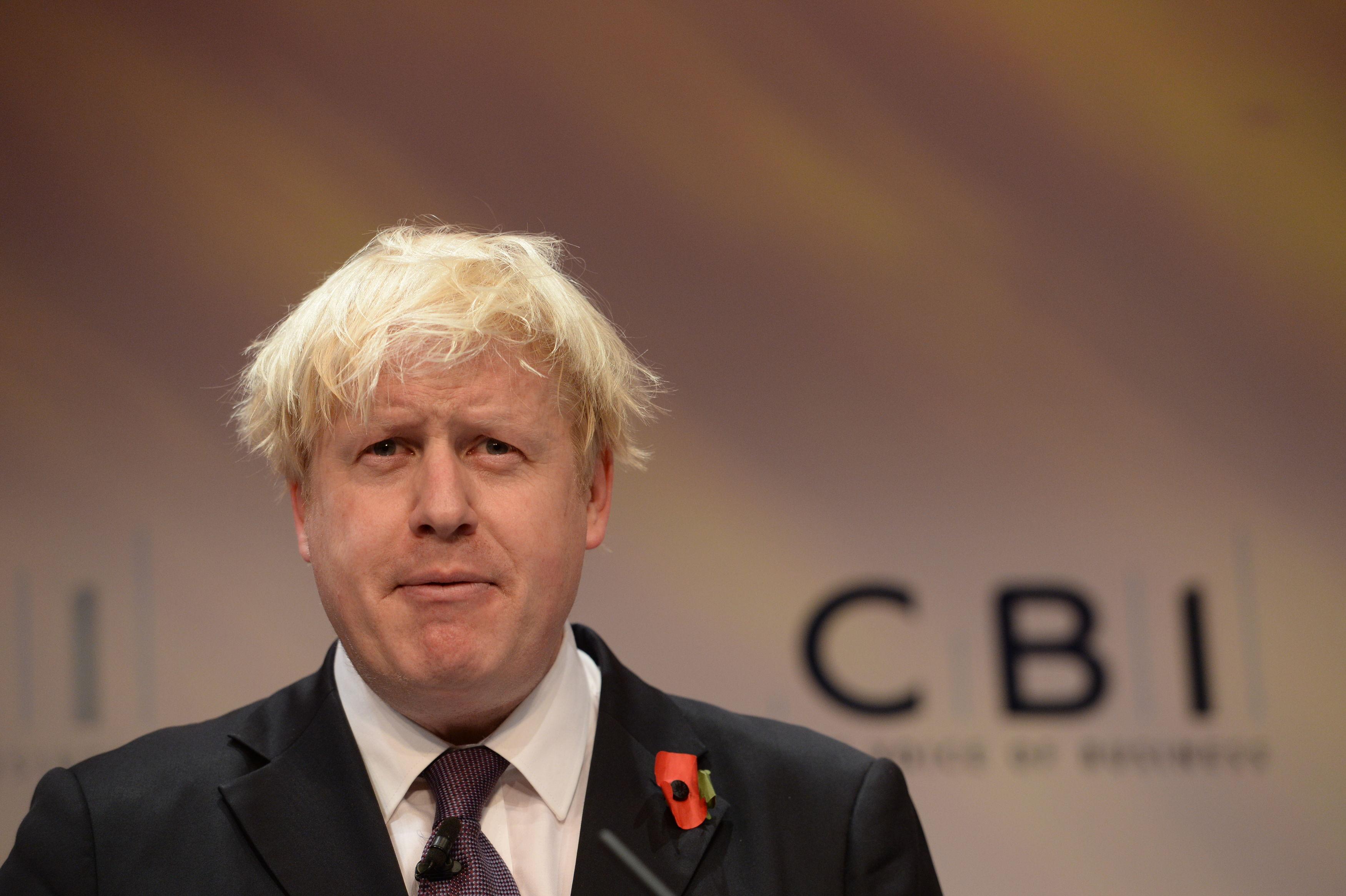 Mayor of London Boris Johnson addresses the CBI Annual conference in London.