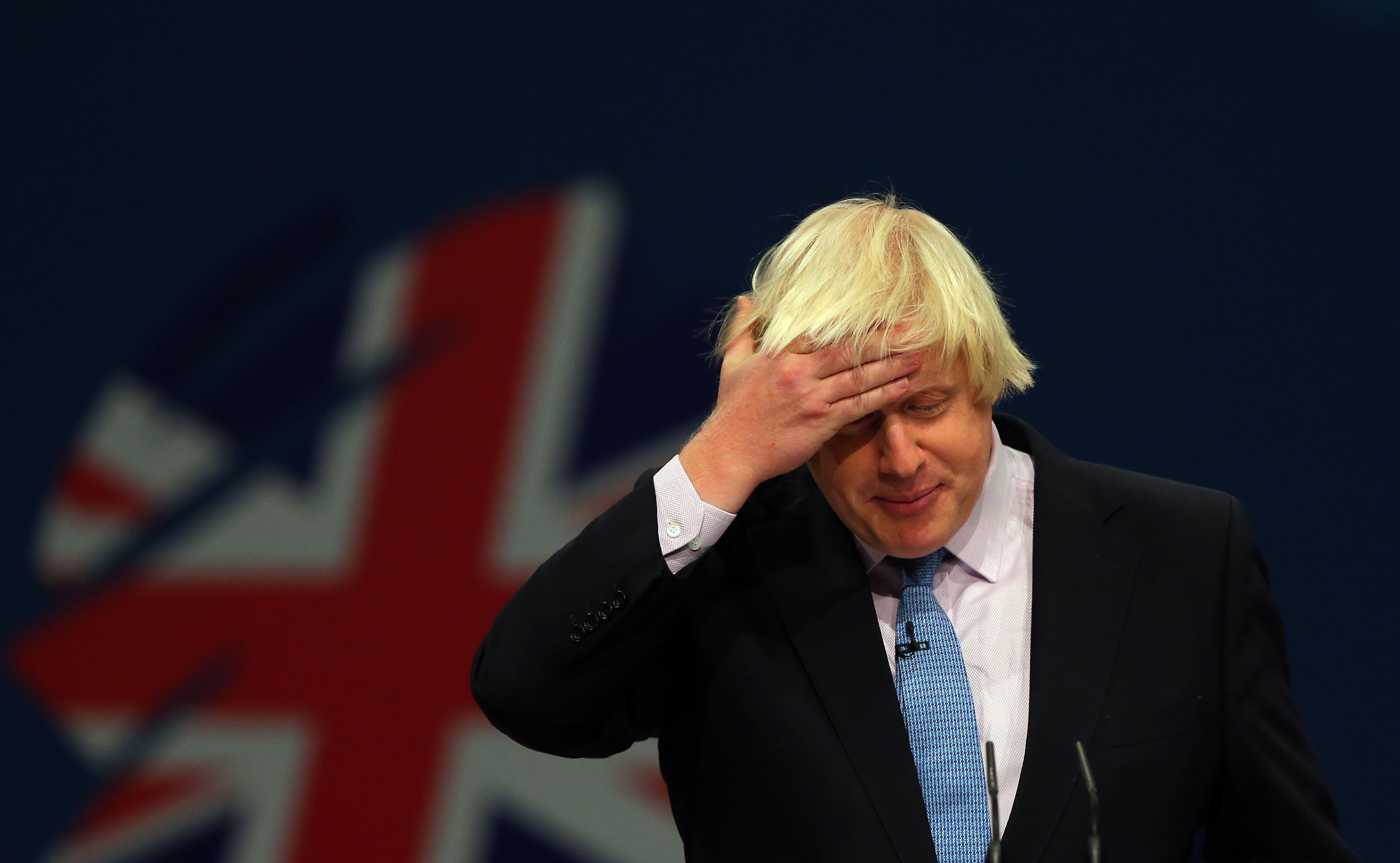 Mayor of London Boris Johnson delivers his speech to delegates on the third day of the Conservative Party Conference at Manchester Central in Manchester.