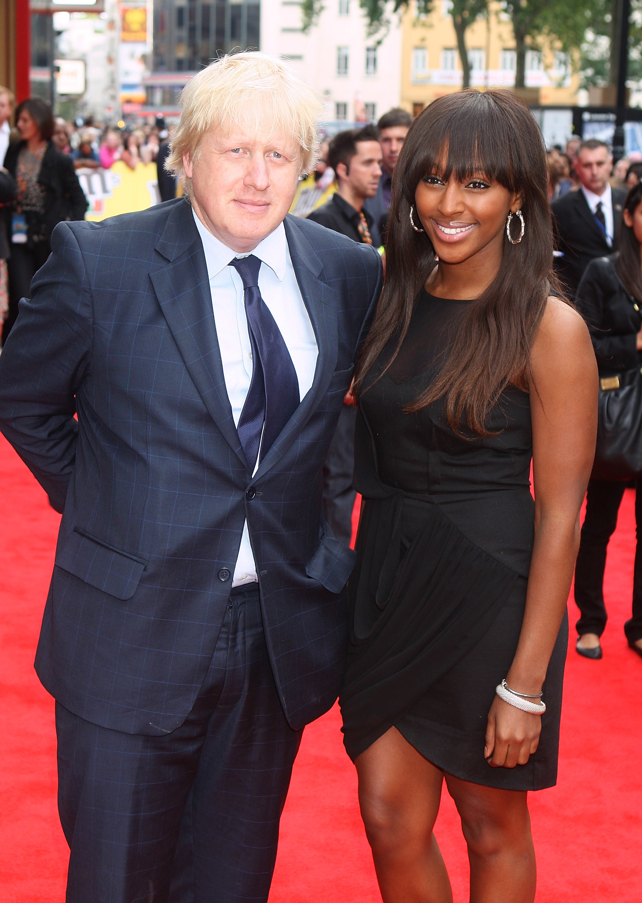 Boris Johnson with Alexandra Burke at the M&M Launch, Leicester Square,London on July 06, 2011.
