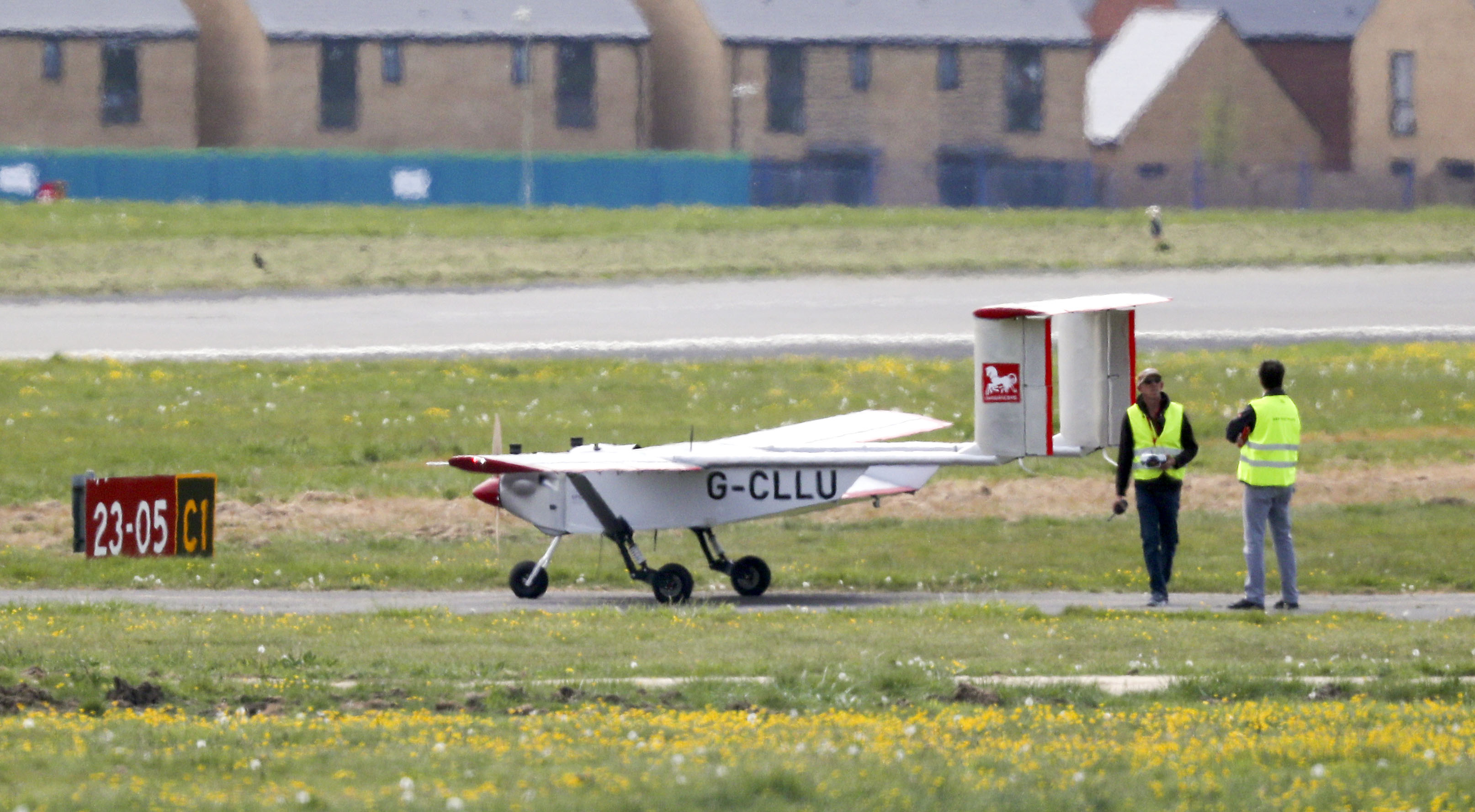Solent Transport conducts a test flight of its drone at Lee-on-the-Solent in Hampshire. Drones are due to deliver NHS supplies to Isle of Wight. as the UK continues in lockdown to help curb the spread of the coronavirus.