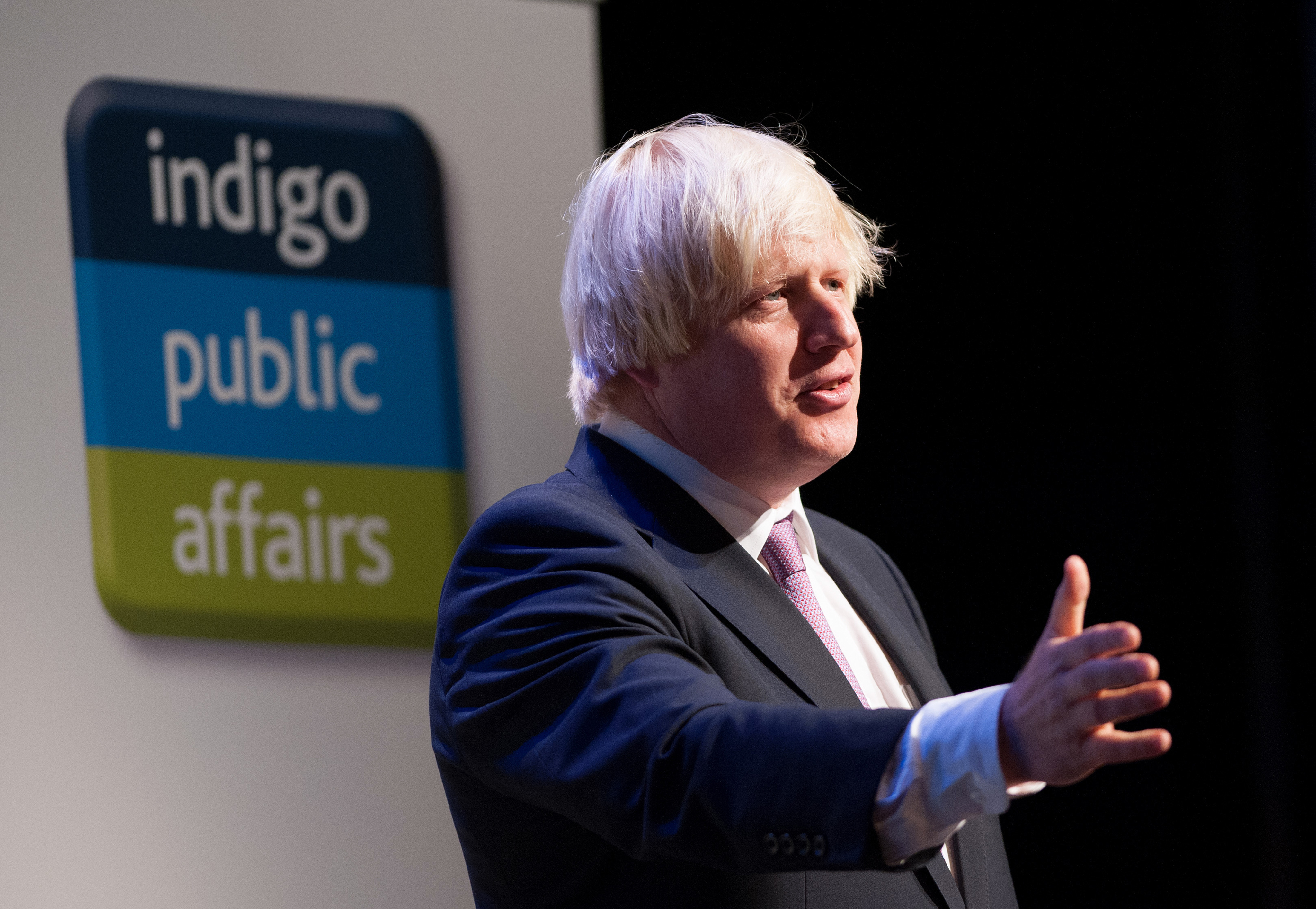 The Mayor of London Boris Johnson speaks to delegates during the Conservative Conference 2013, held at Manchester Central.