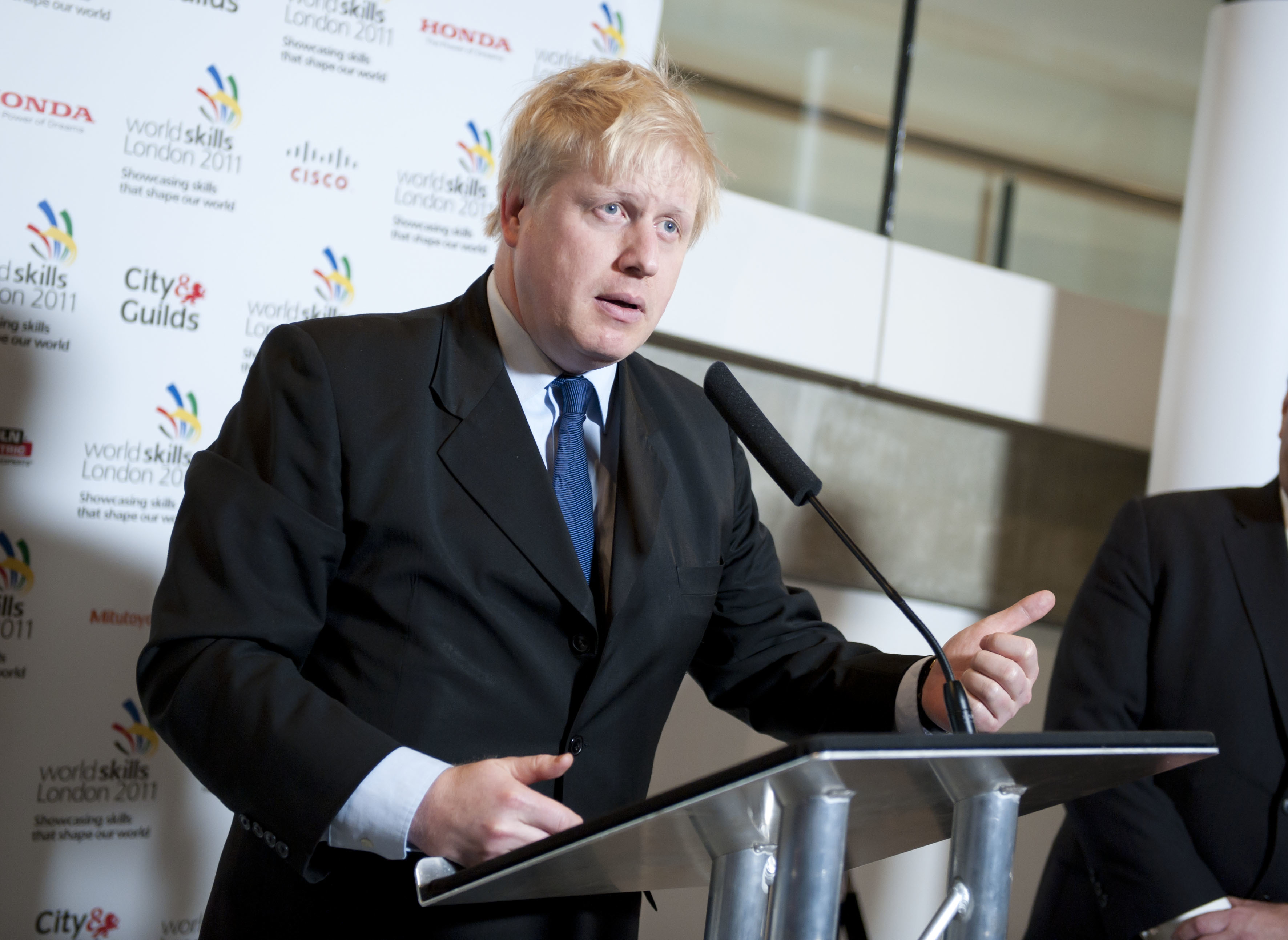 Mayor of London Boris Johnson speaking at the Launch of WorldSkills London 2011 � Have a Go, at City Hall in central London. The WorldSkills skills competition will take place at ExCeL London between October 5-8 2011.