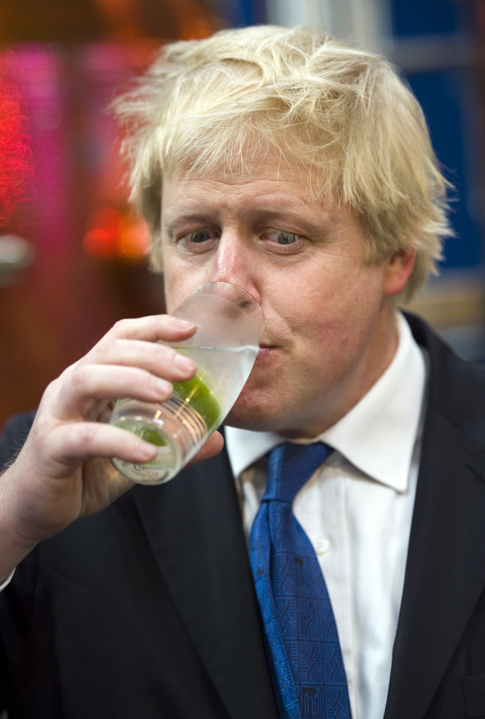 Mayor of London Boris Johnson samples Gin during a visit to Sipsmith's Gin distillery in Chiswick, London, the first copper distillery in the capital for 200 years. PRESS ASSOCIATION Photo. Picture date: Friday April 17, 2015. Mr Johnson has not ruled out becoming a minister in the first year of a Tory government but said David Cameron would not be in favour of such a move. Mr Johnson insisted he could not see how a ministerial position would be compatible with his job as Mayor of London, which will end in May 2016. After that the road would be clear for Mr Johnson to be promoted to government if the Tories form it and he becomes MP for Uxbridge and South Ruislip. But Mr Johnson stressed that his current mayoral position was like running a big budget government department already. See PA story ELECTION Boris. Photo credit should read: Anthony Devlin/PA Wire