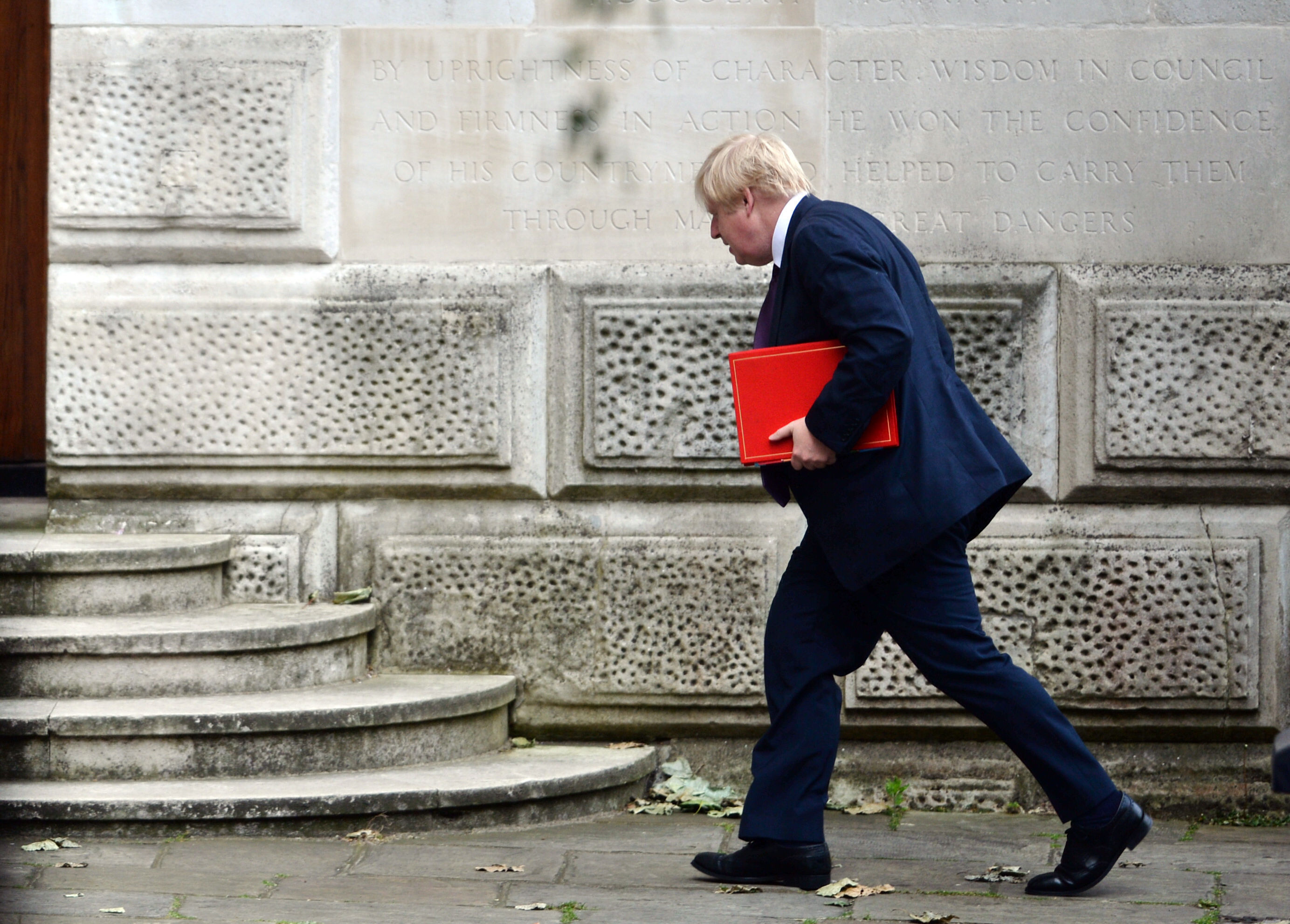 Foreign Secretary Boris Johnson arriving at the Foreign & Commonwealth Office in central London.