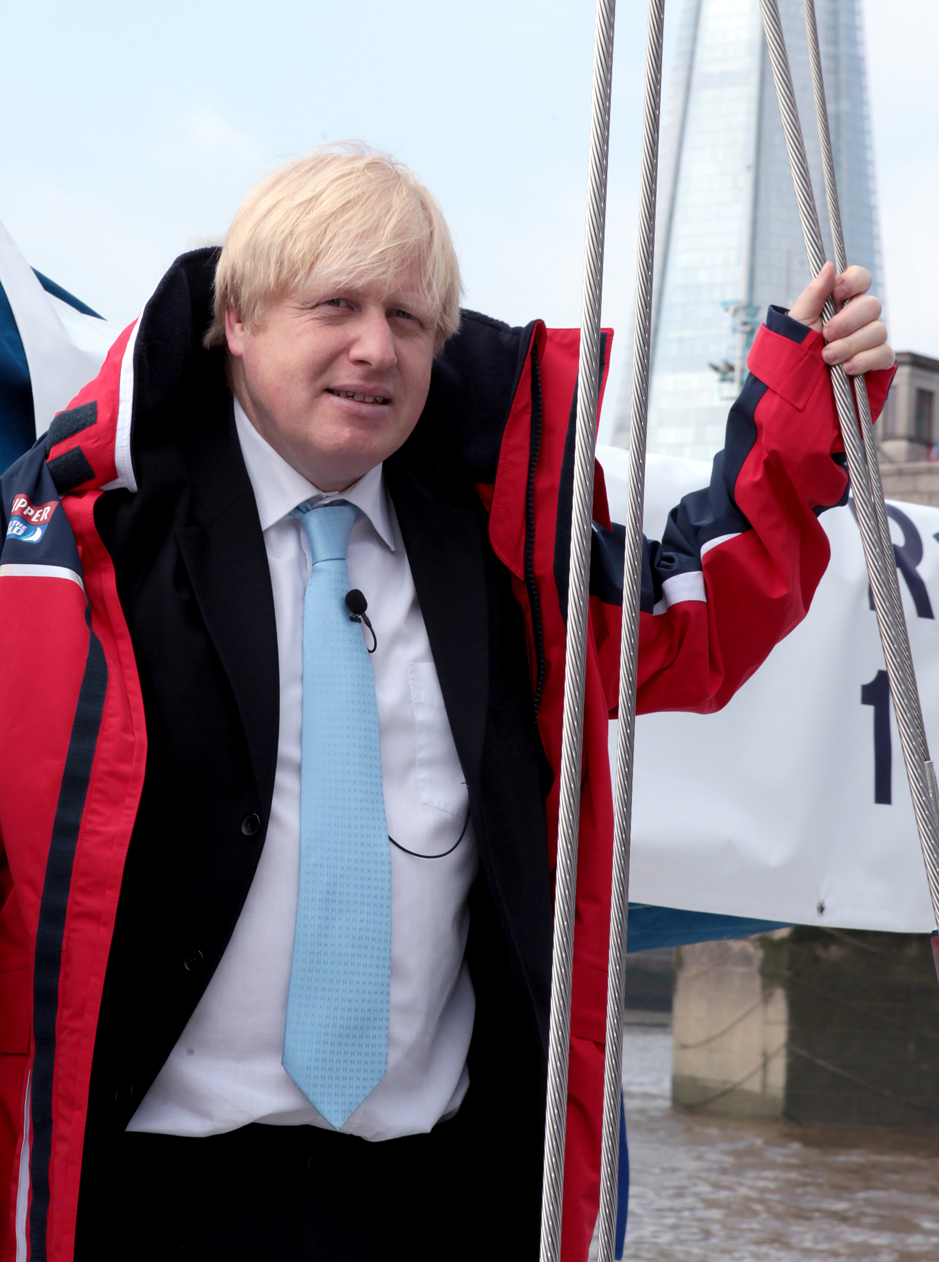 London Mayor Boris Johnson at the announcement for London to host the start and Finish of the 2013-14 edition of the Clipper Round the World Yacht Race, during a photo call in London.