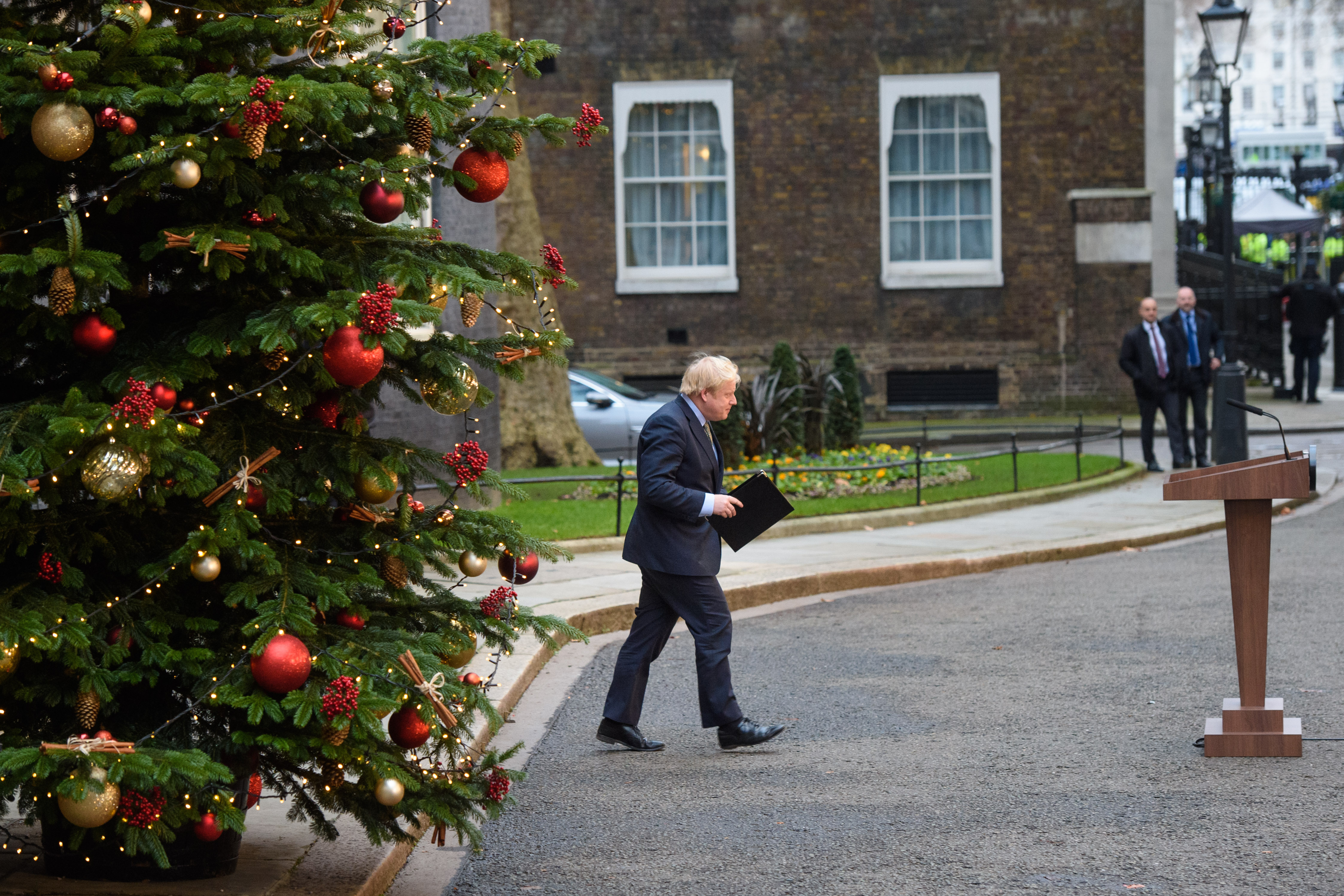 Prime Minister Boris Johnson speaks to the media in Downing Street, London, after the Conservative Party was returned to power in the General Election with an increased majority. Boris Johnson Picture date: Friday December 13, 2019. Photo credit should read: Matt Crossick/Empics