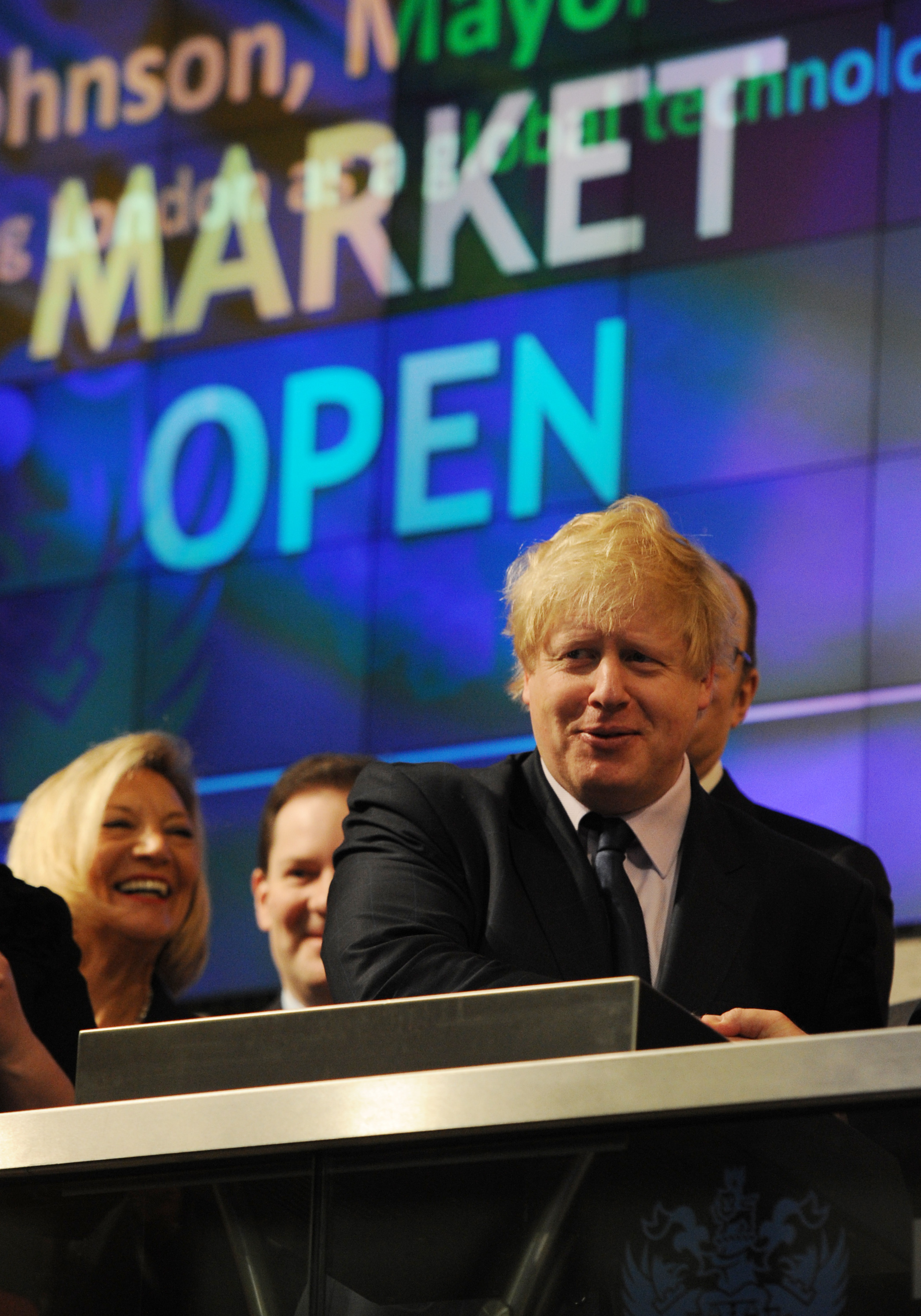 London Mayor Boris Johnson opens trading at the London Stock Exchange in London today. ASSOCIATION Photo. Picture date: Tuesday February 12 2013. Photo credit should read: Stefan Rousseau/PA Wire