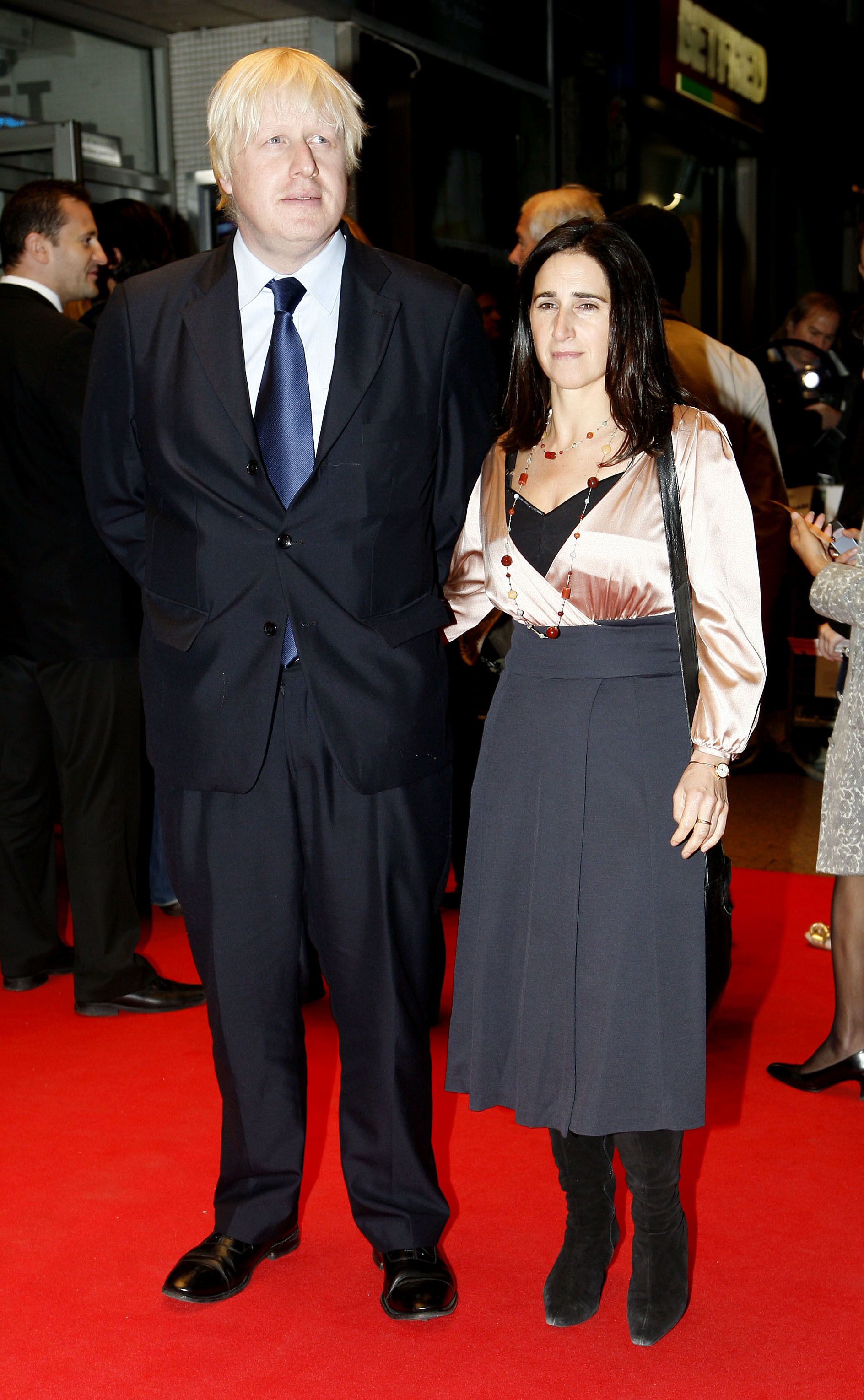 Boris Johnson and his wife Marina arriving at the Gala Screening of 'Genova' directed by Michael Winterbottom, during the The Times BFI London Film Festival 2008, at the Odeon West End, Leicester Square, central London.