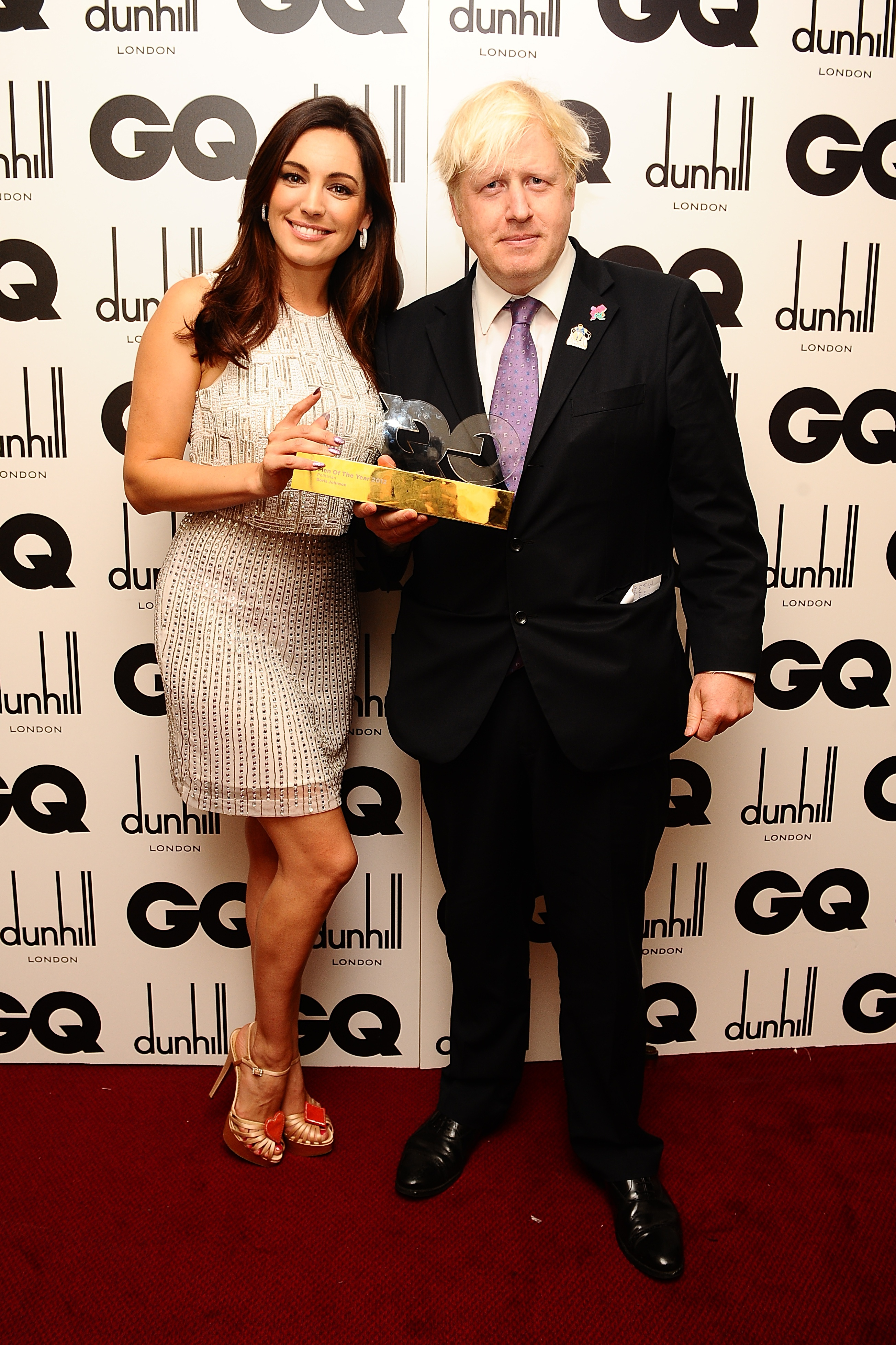 Kelly Brook with Politician Of The Year London Mayor Boris Johnson at the 2012 GQ Men Of The Year Awards at the Royal Opera House, Bow Street, London