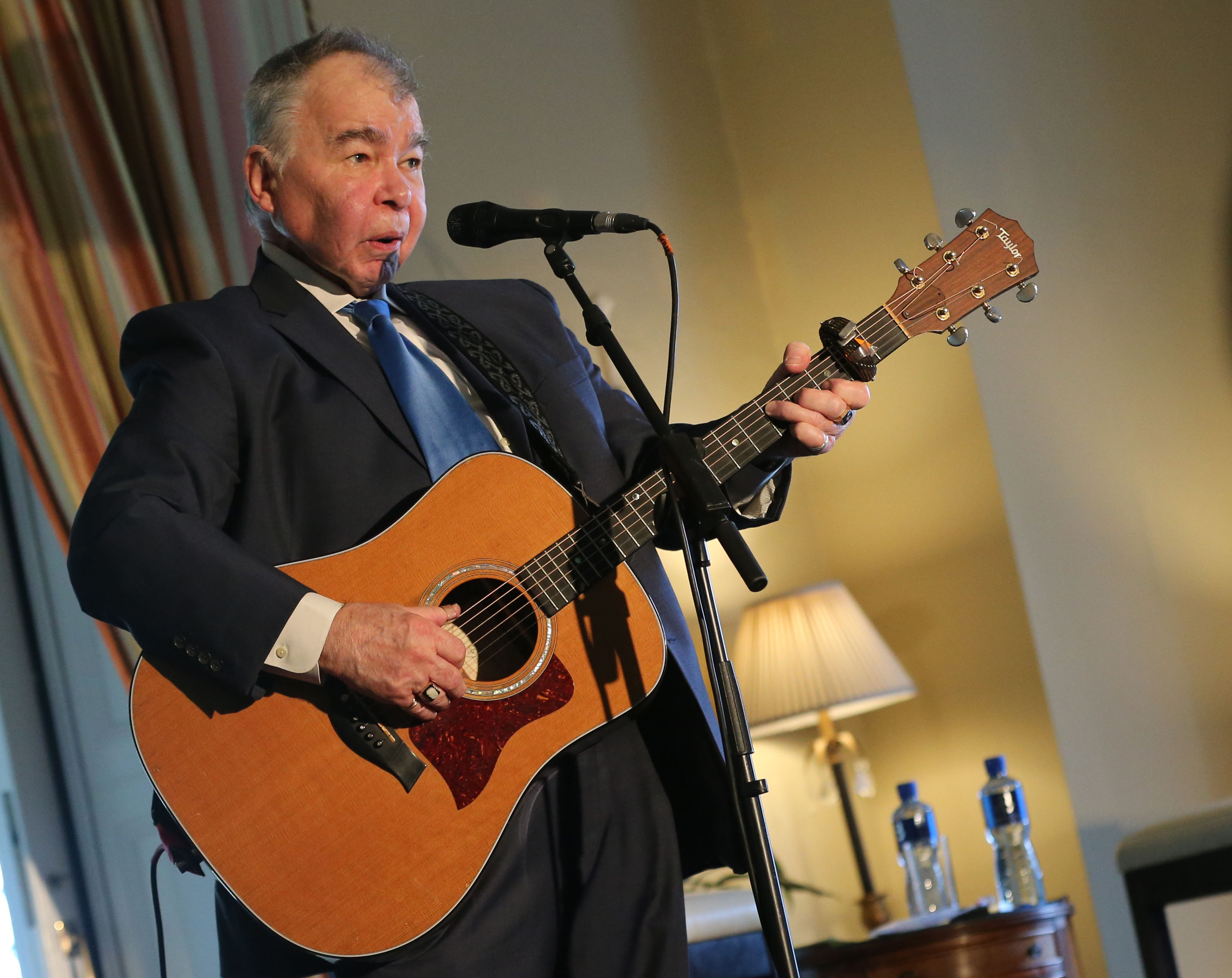 File photo dated 17/8/2015 of American country/folk singer-songwriter John Prine who has died aged 73 due to complications from the coronavirus. He is pictured participating in the Creative Minds Event, hosted by US Ambassador to Ireland Kevin O'Malley at his residence in Dublin.