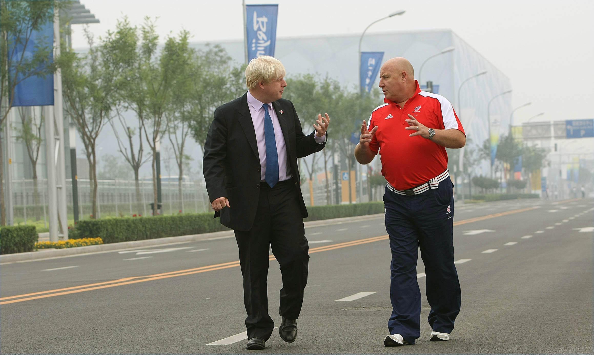Mayor of London Boris Johnson (left) with Team GB Chef De Mission Phil Lane in Beijing, China.