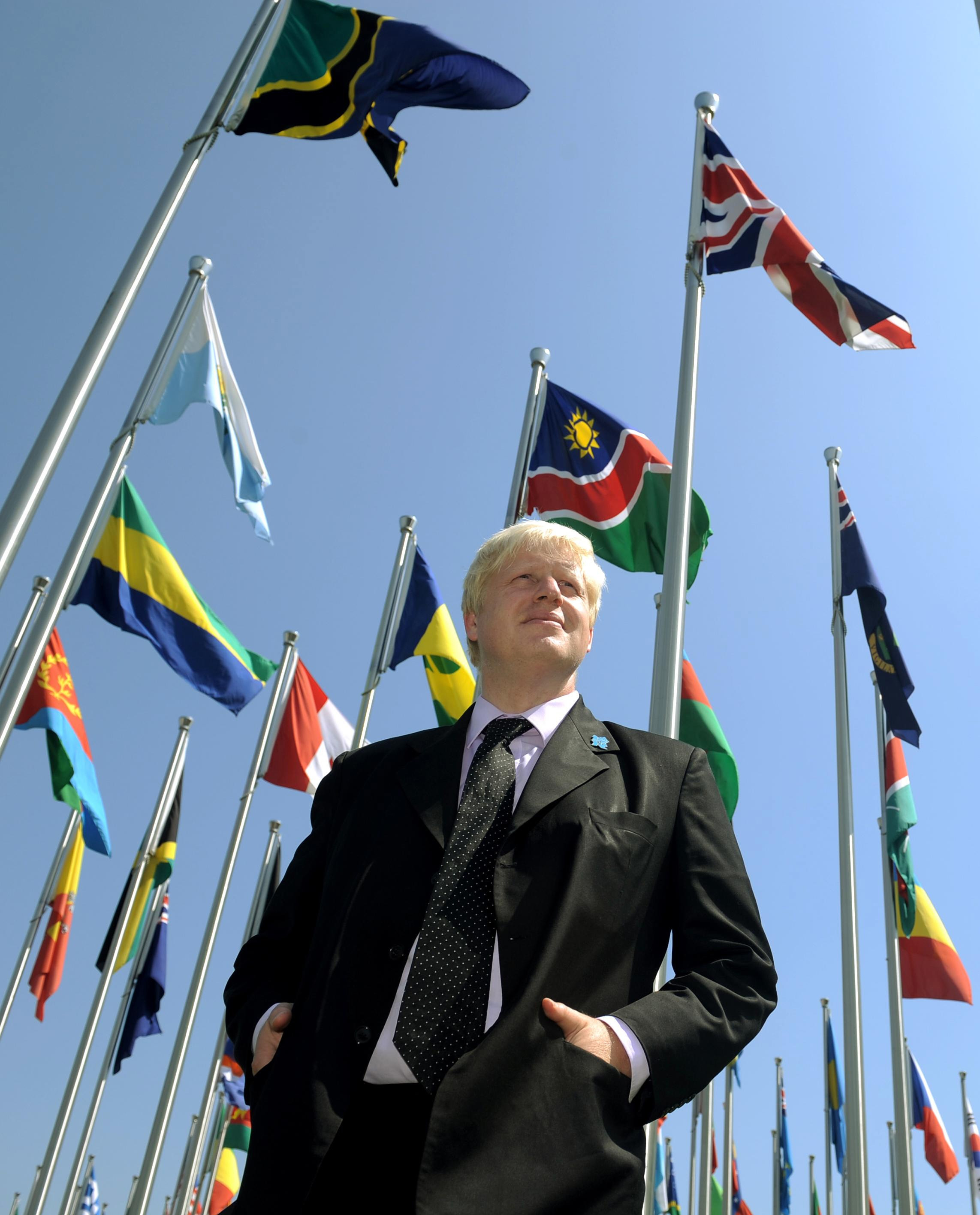 London Mayor Boris Johnson visits the athletes' village in Beijing where he is attending the last few days of the 2008 Olympic Games, and participating in the London Handover during the closing ceremony on Sunday.
