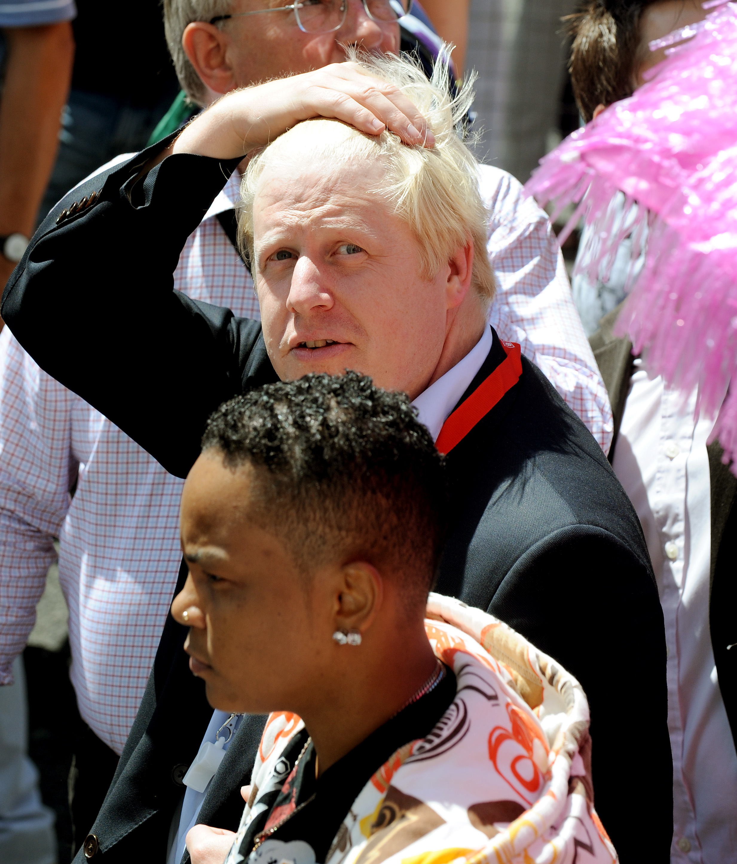 Boris Johnson leads Pride London 2008, the country's largest gay and lesbian carnival