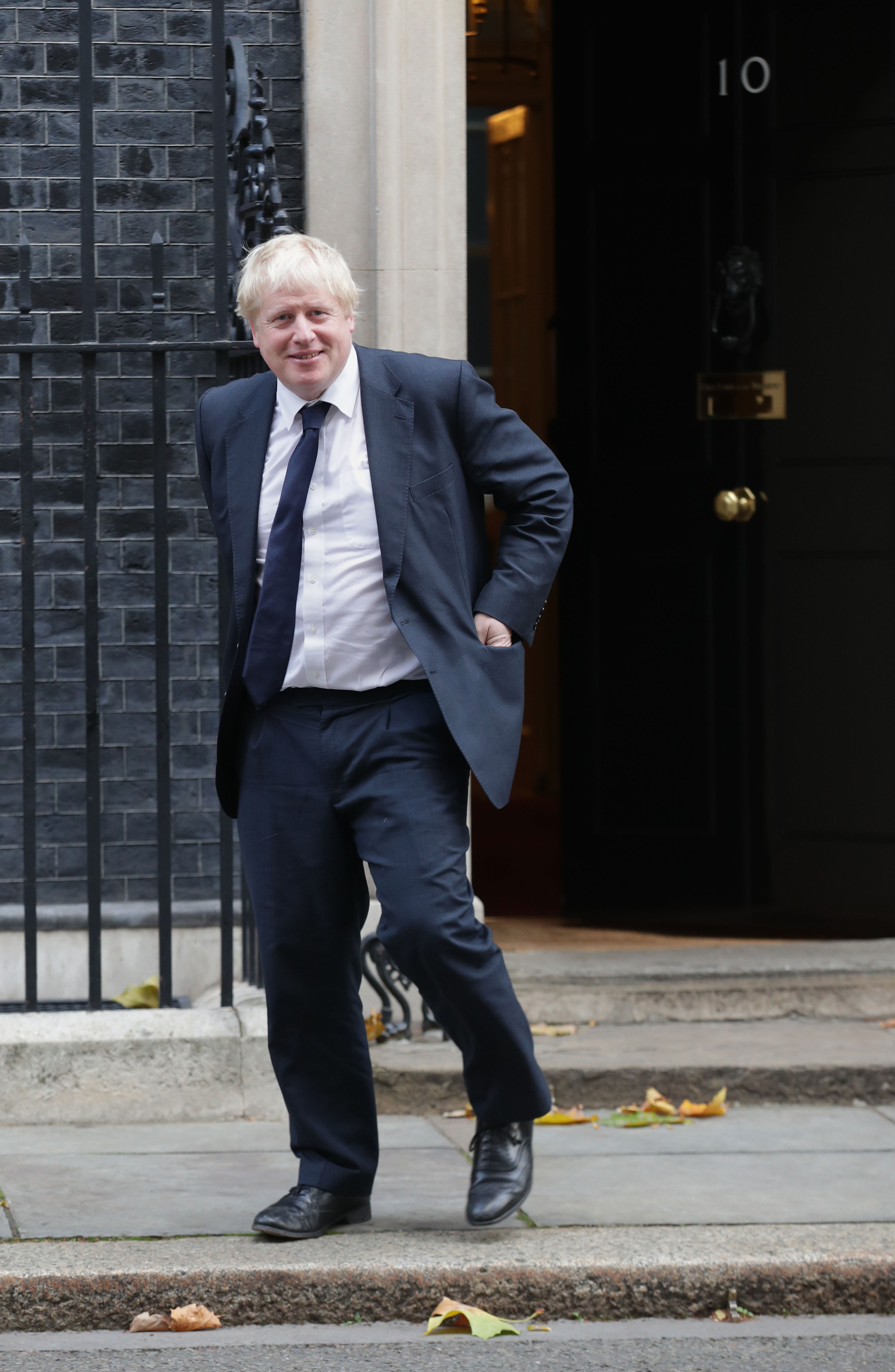 Foreign Secretary Boris Johnson leaving Downing Street, London, after a pre-Budget Cabinet meeting.