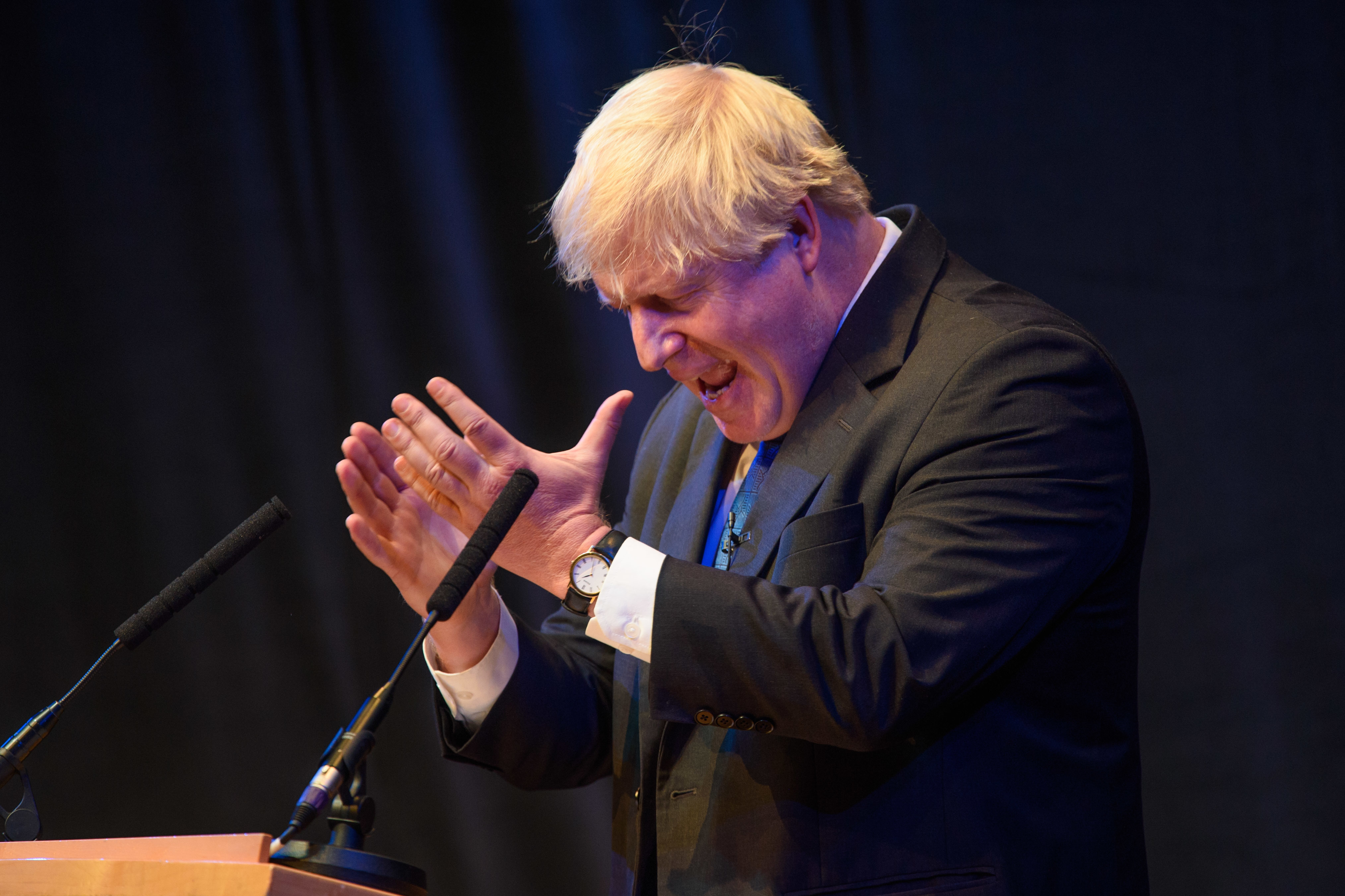 Boris Johnson MP speaks at a fringe event organised by Conservative Home during the Conservative Party annual conference, at the International Convention Centre, Birmingham. Picture date: Tuesday October 2nd, 2018. Photo credit should read: Matt Crossick/ EMPICS.
