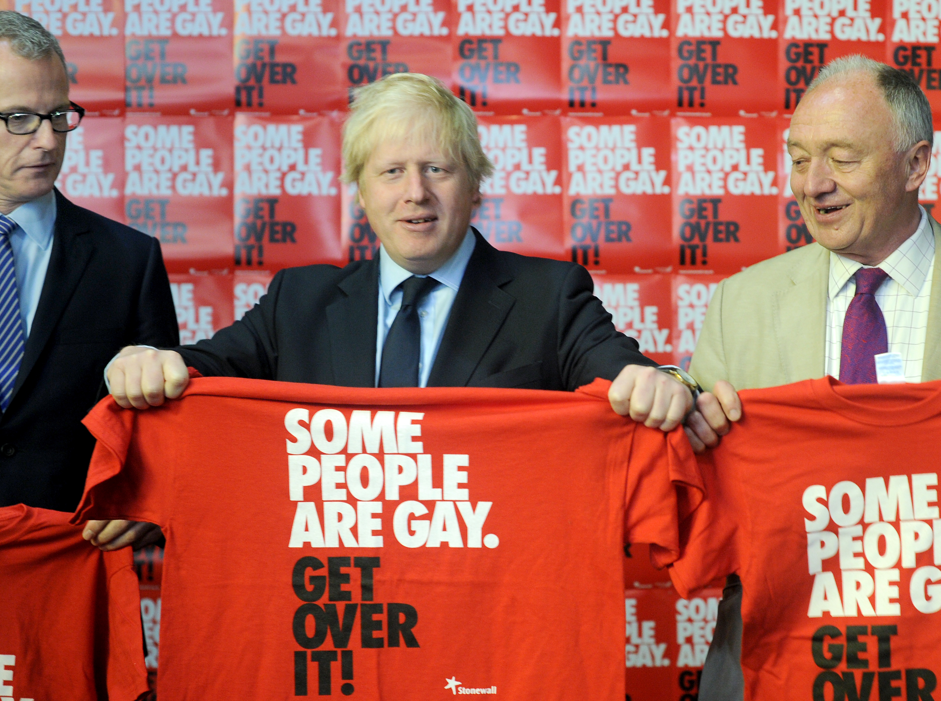 Candidates (left - right) Brian Paddick, Boris Johnson and Ken Livingstone attend the London Gay Mayoral Hustings hosted by Stonewall at the British Film Institute, London. PRESS ASSOCIATION Photo. Picture date: Saturday April 14, 2012. Watch for PA story POLITICS Mayor. Photo credit should read: Anthony Devlin/PA Wire