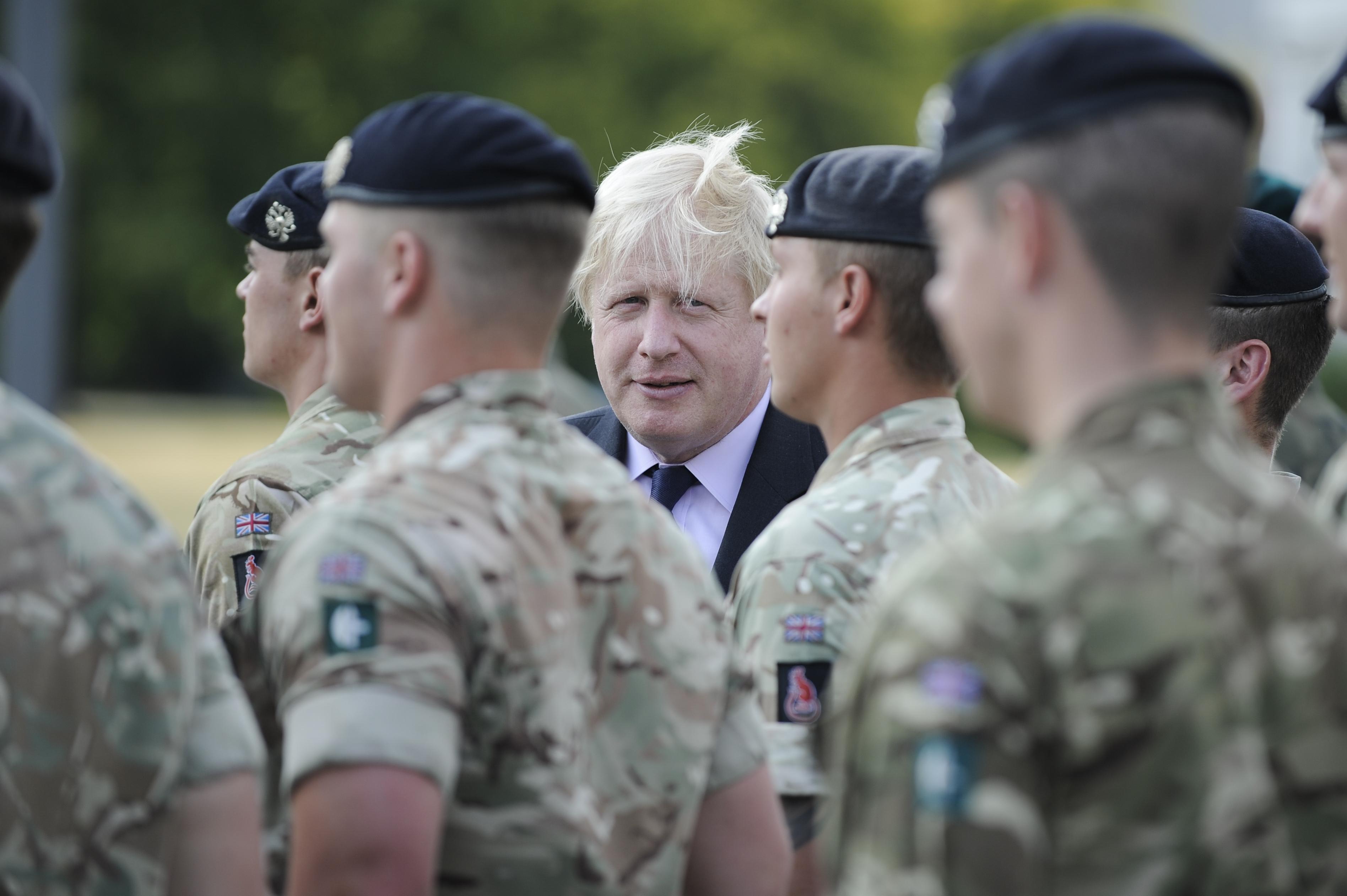 The Foreign Secretary Boris Johnson and Defense Secretary Gavin Williamson visit Warsaw, Poland on June 21, 2018 to meet with Polish minister of defense Mariusz Blasczak and Minister of Foreign Affairs Jacek Czaputowicz. (Photo by Jaap Arriens / Sipa USA)