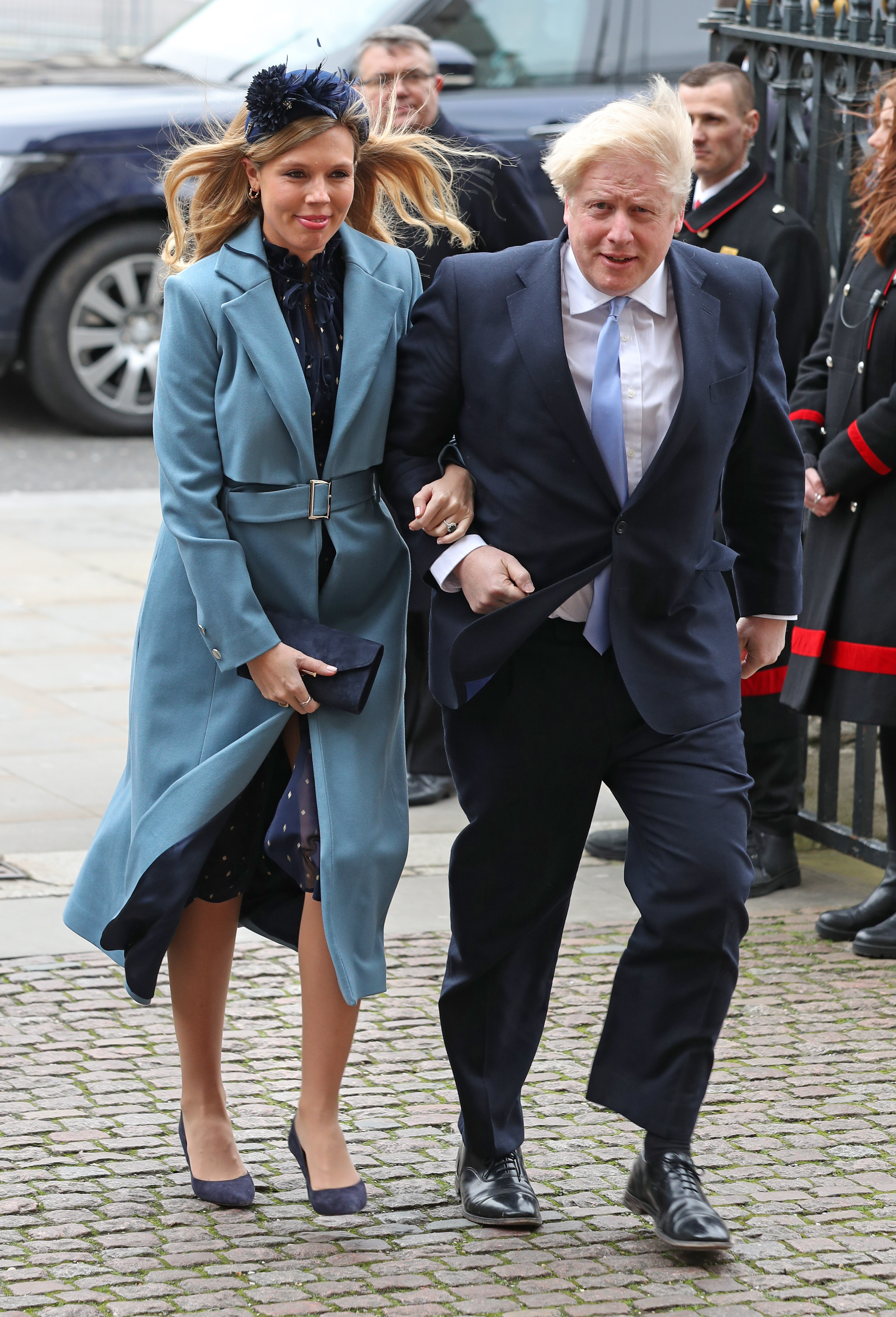 File photo dated 09/03/20 of Prime Minister Boris Johnson and partner Carrie Symonds arriving at the Commonwealth Service at Westminster Abbey, London on Commonwealth Day.