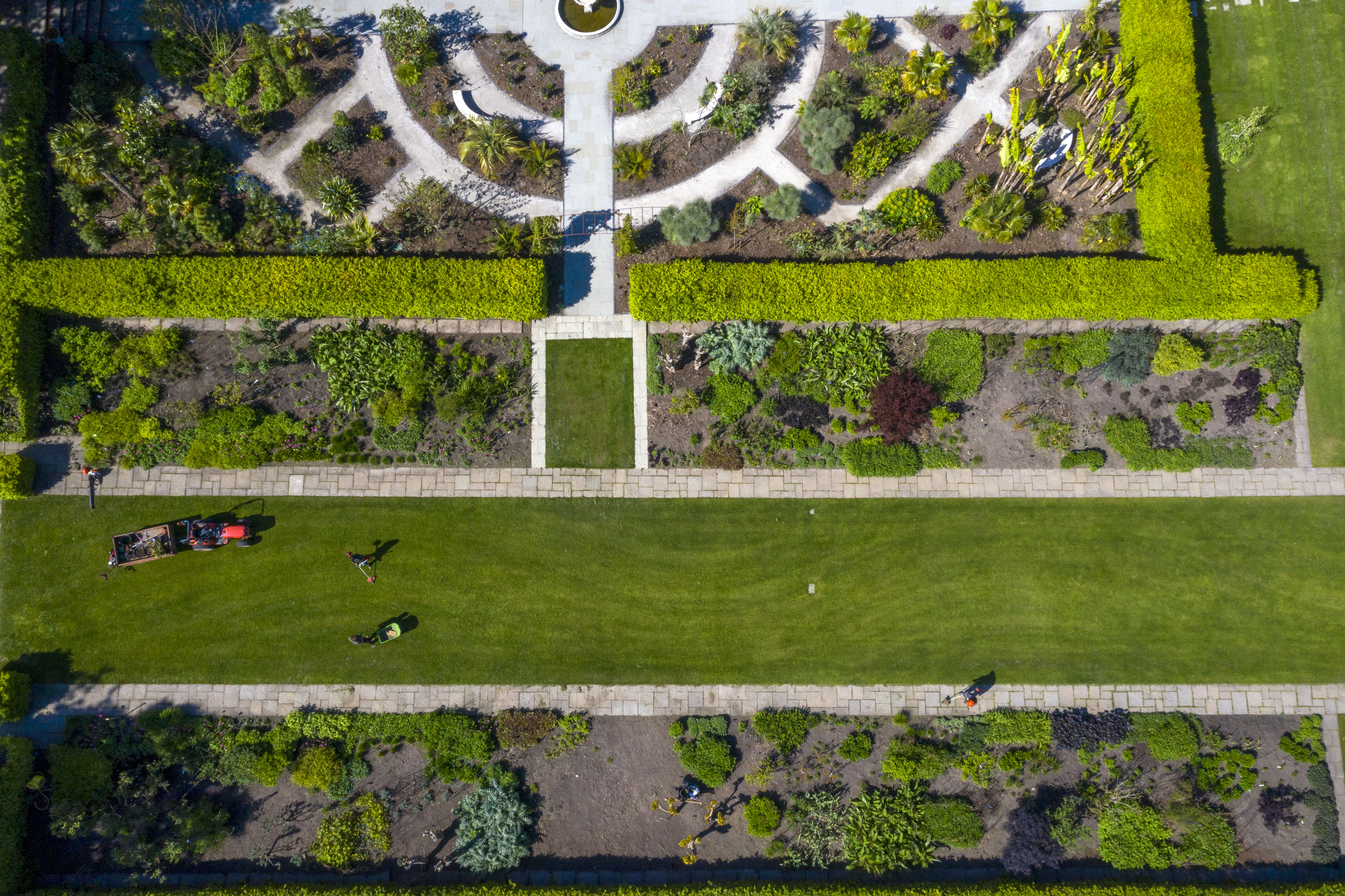 A small dedicated team of horticulturists care for RHS Garden Wisley near Woking, Surrey, while spring highlights burst into bloom, as the UK continues in lockdown to help curb the spread of the coronavirus.