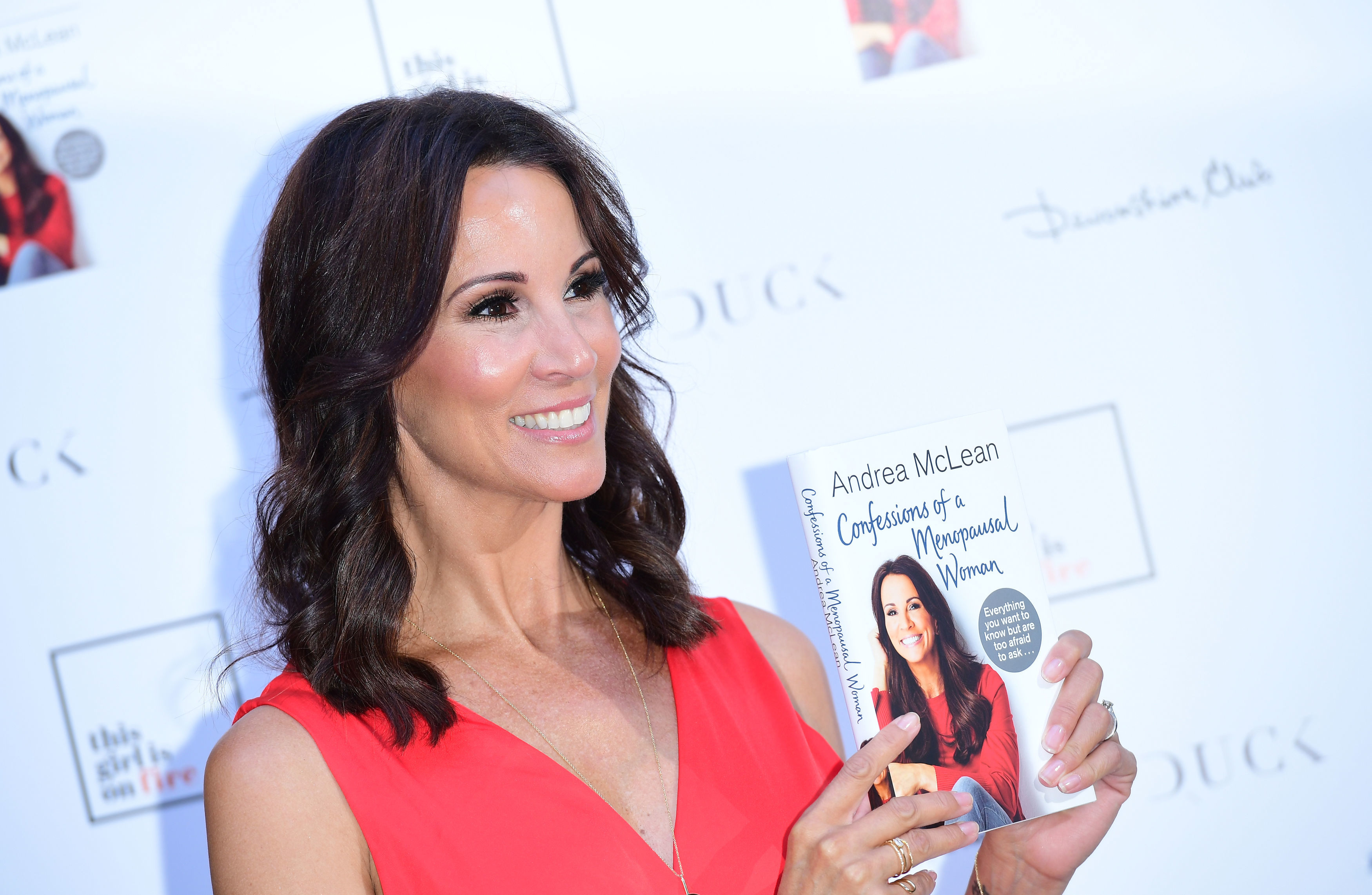 Andrea McLean attending the launch of her new book Confessions of a Menopausal Woman at the Devonshire Club in London. (Photo by Ian West/PA Images via Getty Images)
