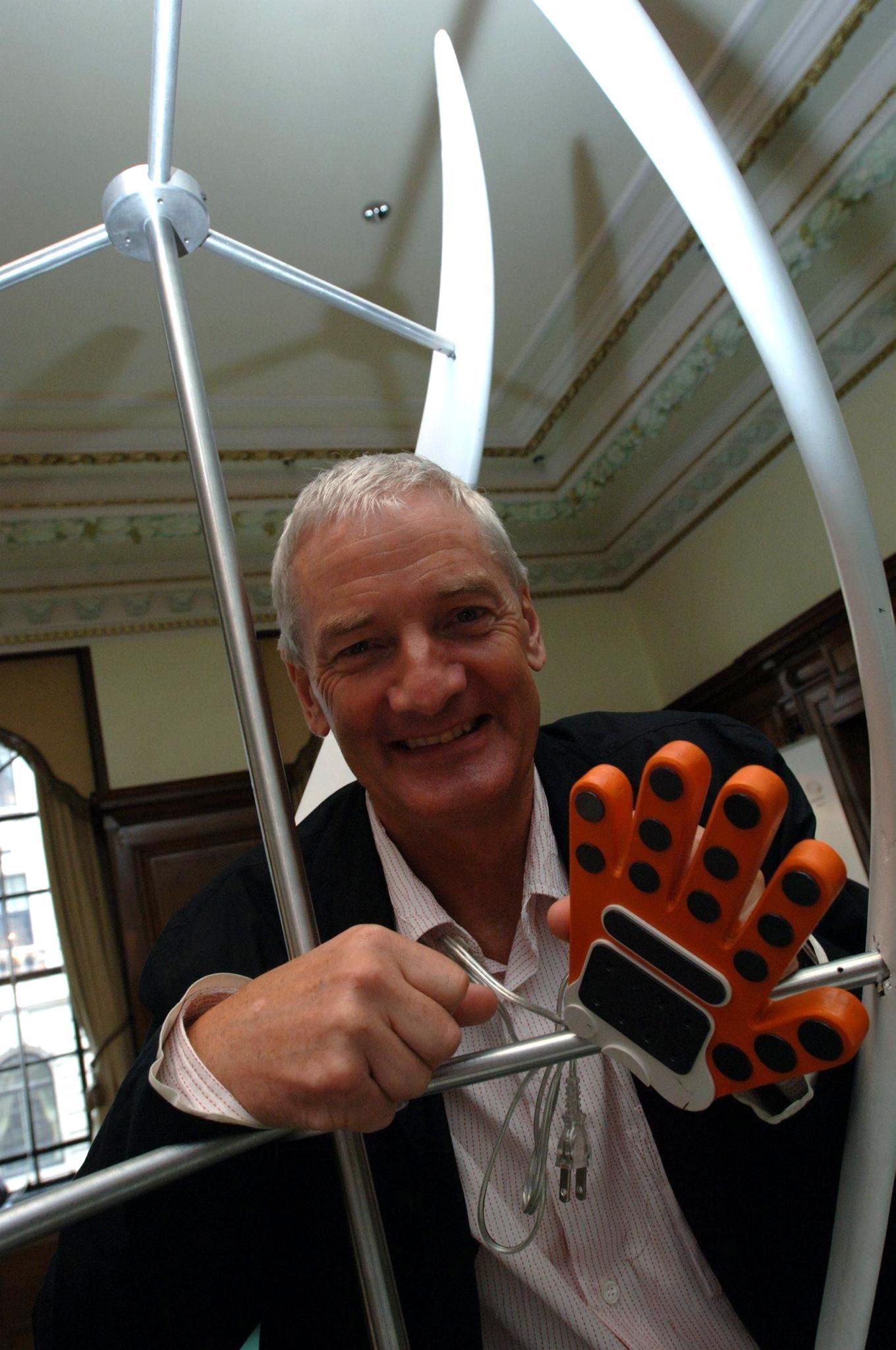 Bagless vacuum cleaner inventor James Dyson in central London, where he unveiled plans for a new college aimed at encouraging young people to become engineers.