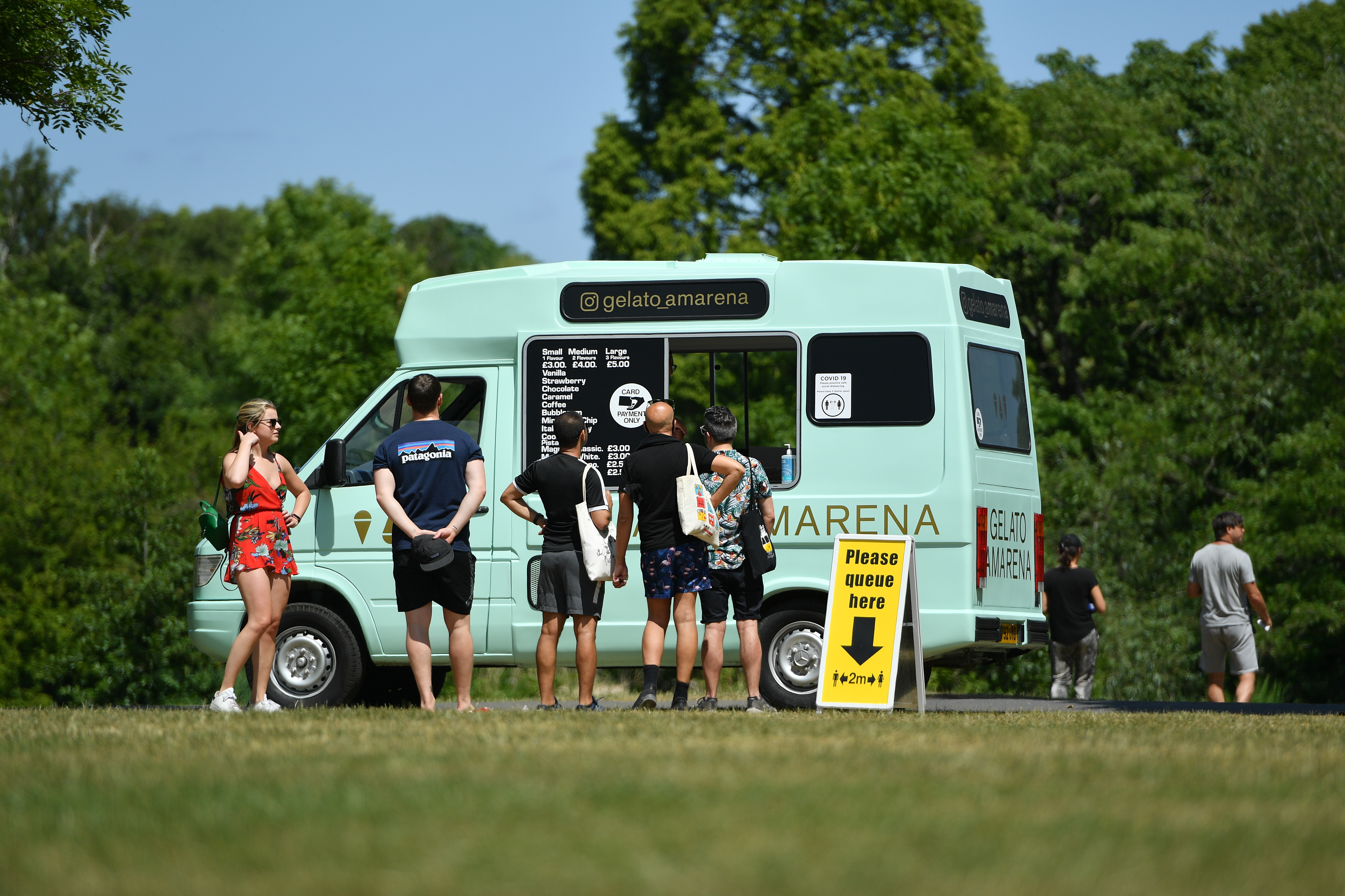 The public enjoying the Bank Holiday sun on Wandsworth Common as the UK eases some restrictions in it's tenth week to help curb the spread of the coronavirus.