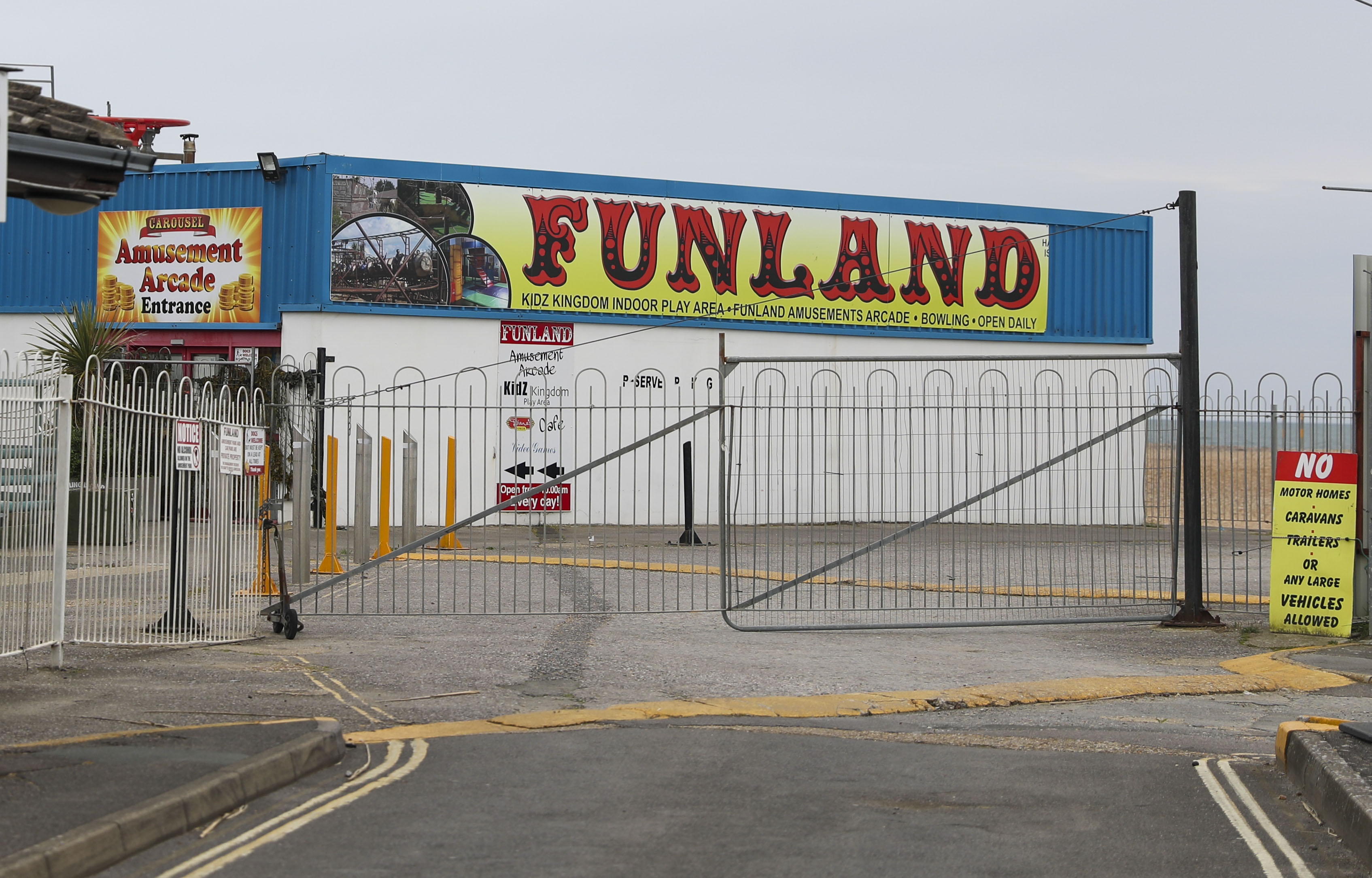 Funland in Hayling Island, Hampshire, remains closed as the UK continues in lockdown to help curb the spread of the coronavirus.