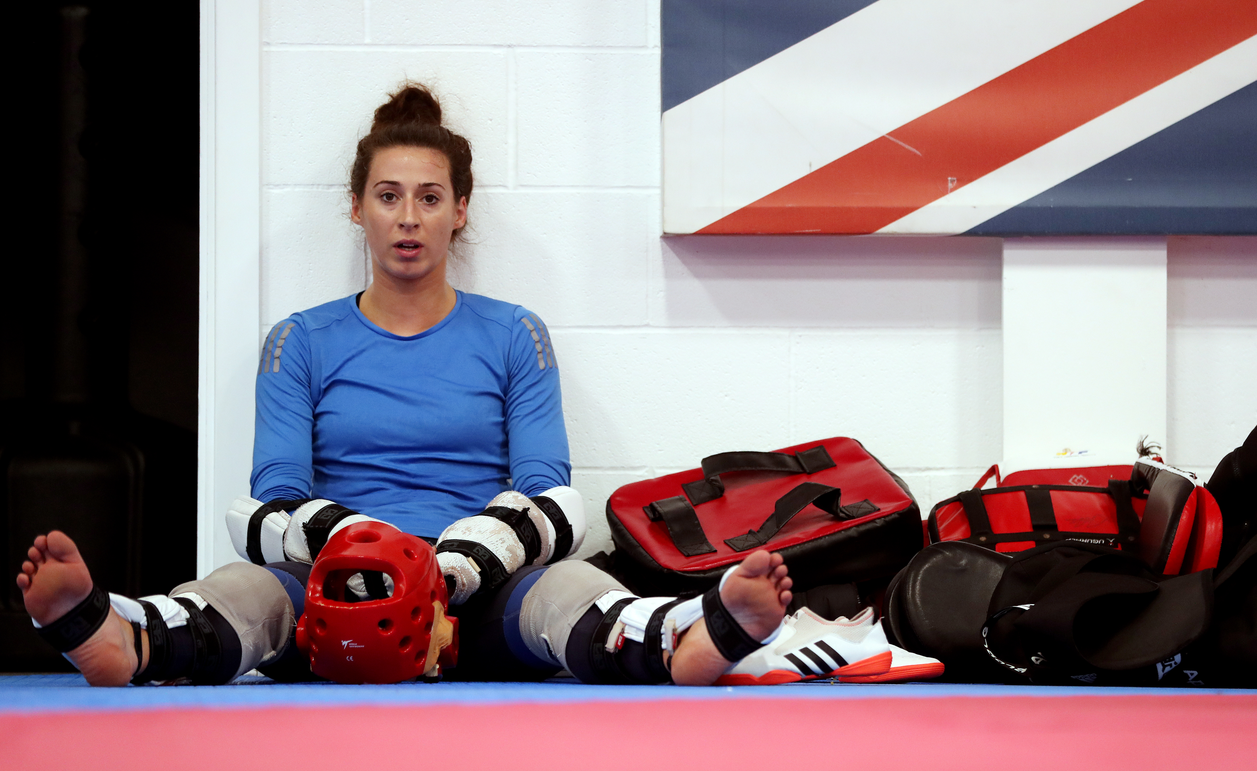 Bianca Walkden during the training session at the National Taekwondo Centre, Manchester. (Photo by David Davies/PA Images via Getty Images)