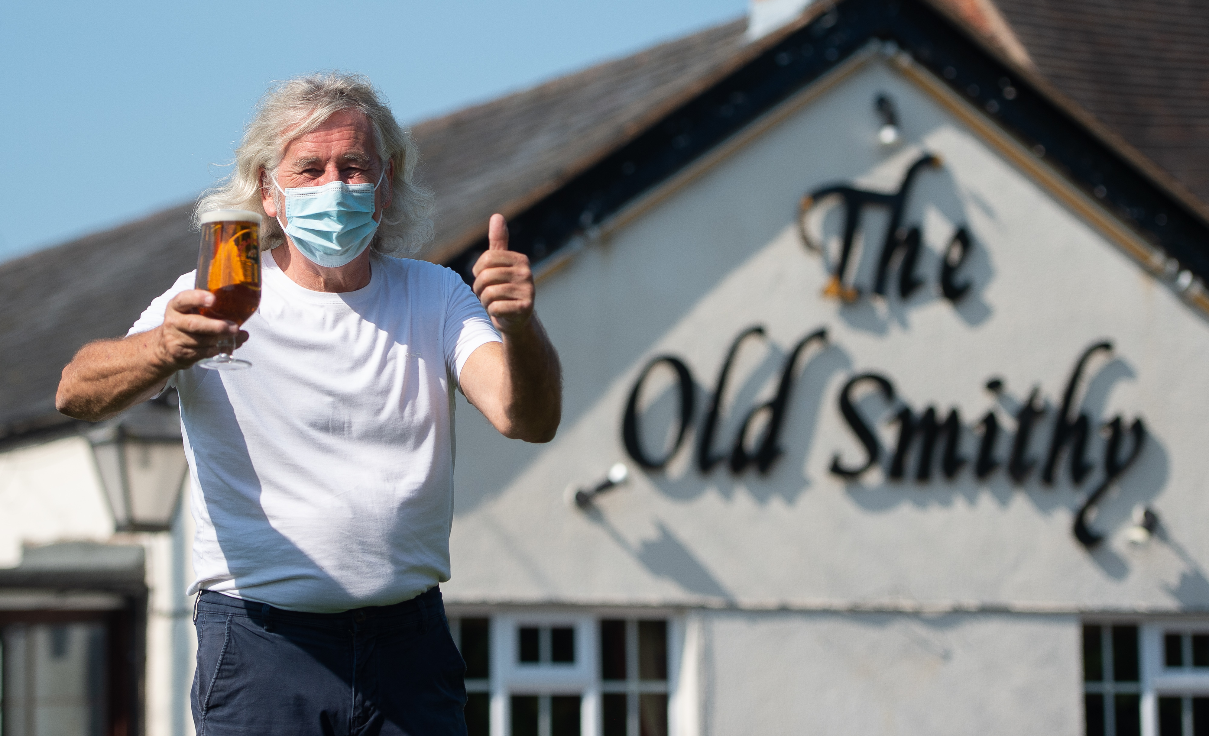 """Phil Weaver, owner of The Old Smithy in Church Lawford, Warwickshire as pub and hospitality bosses have cheered the Government's proposals to allow customers through their doors again on July 4 as """"a welcome relief""""."""