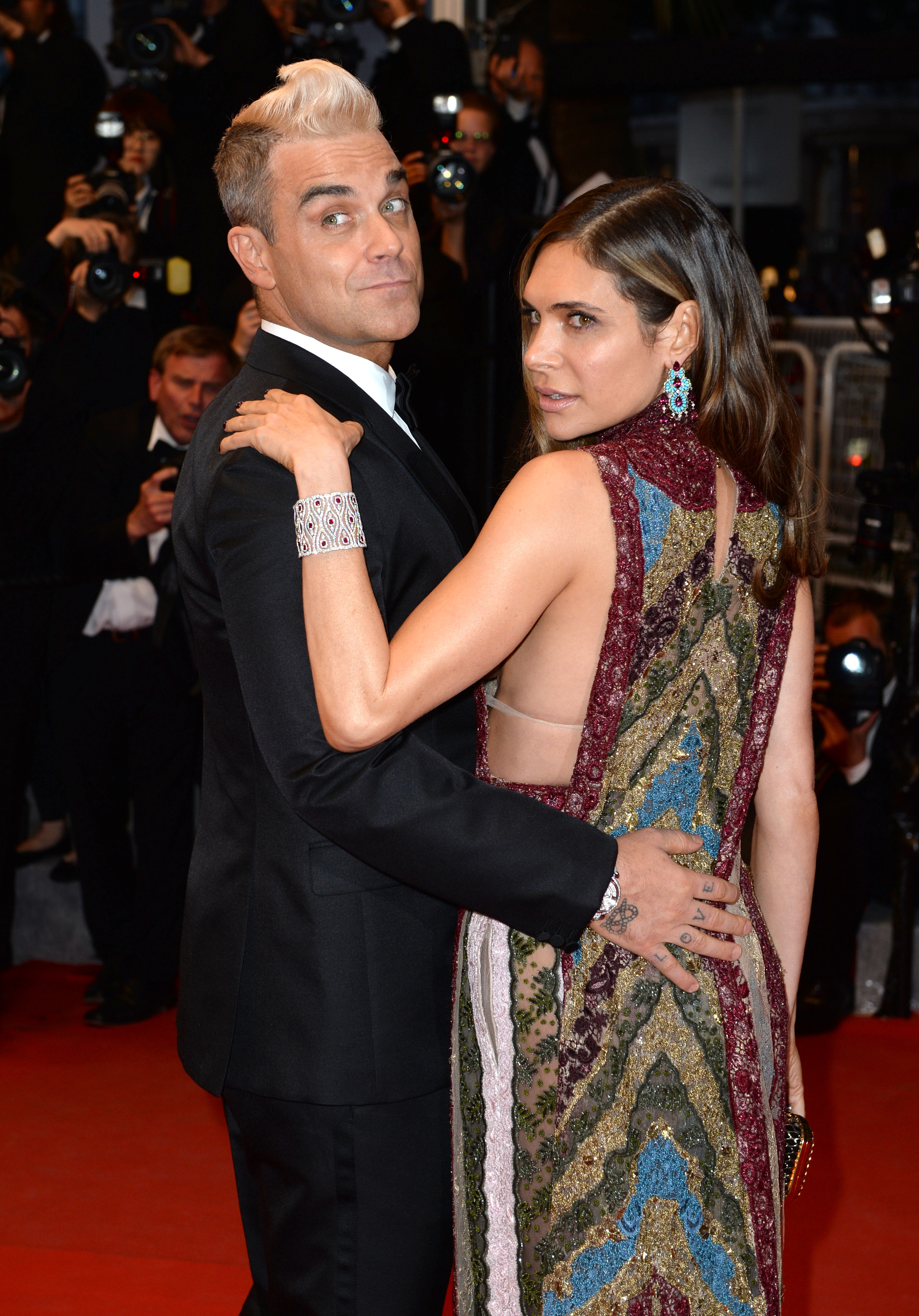 Robbie Williams and wife Ayda Field attending the Sea of Trees premiere taking place during the 68th Festival de Cannes held at the Grand Theatre Lumiere, Palais des Festivals, Cannes, France(Mandatory Credit: Doug Peters/EMPICS Entertainment)