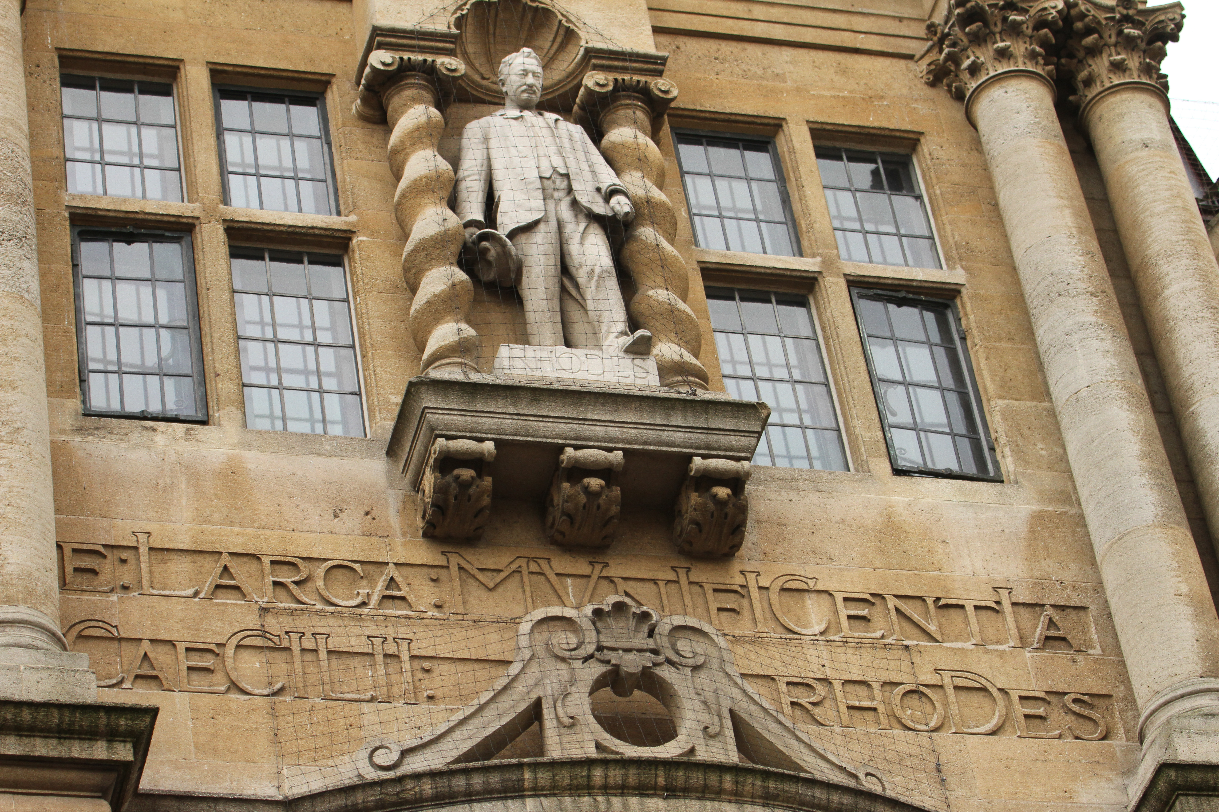 Cecil Rhodes statue stands at the front facade of the Oriel College in Oxford during the protest. Cecil was an English-born businessman, mining magnate, and politician in South Africa. The founder of the diamond company De Beers and the founder of the state of Rhodesia (now Zimbabwe) , which was named after him. The Rhodes Must Fall campaign was reignited from a 2016 campaign following recent Black Lives Matter demonstrations after the demise of George Floyd under police custody in Mineapolis. Despite the Covid19 lockdown, protesters globally have united to demand change. (Photo by David Mbiyu / SOPA Images/Sipa USA)