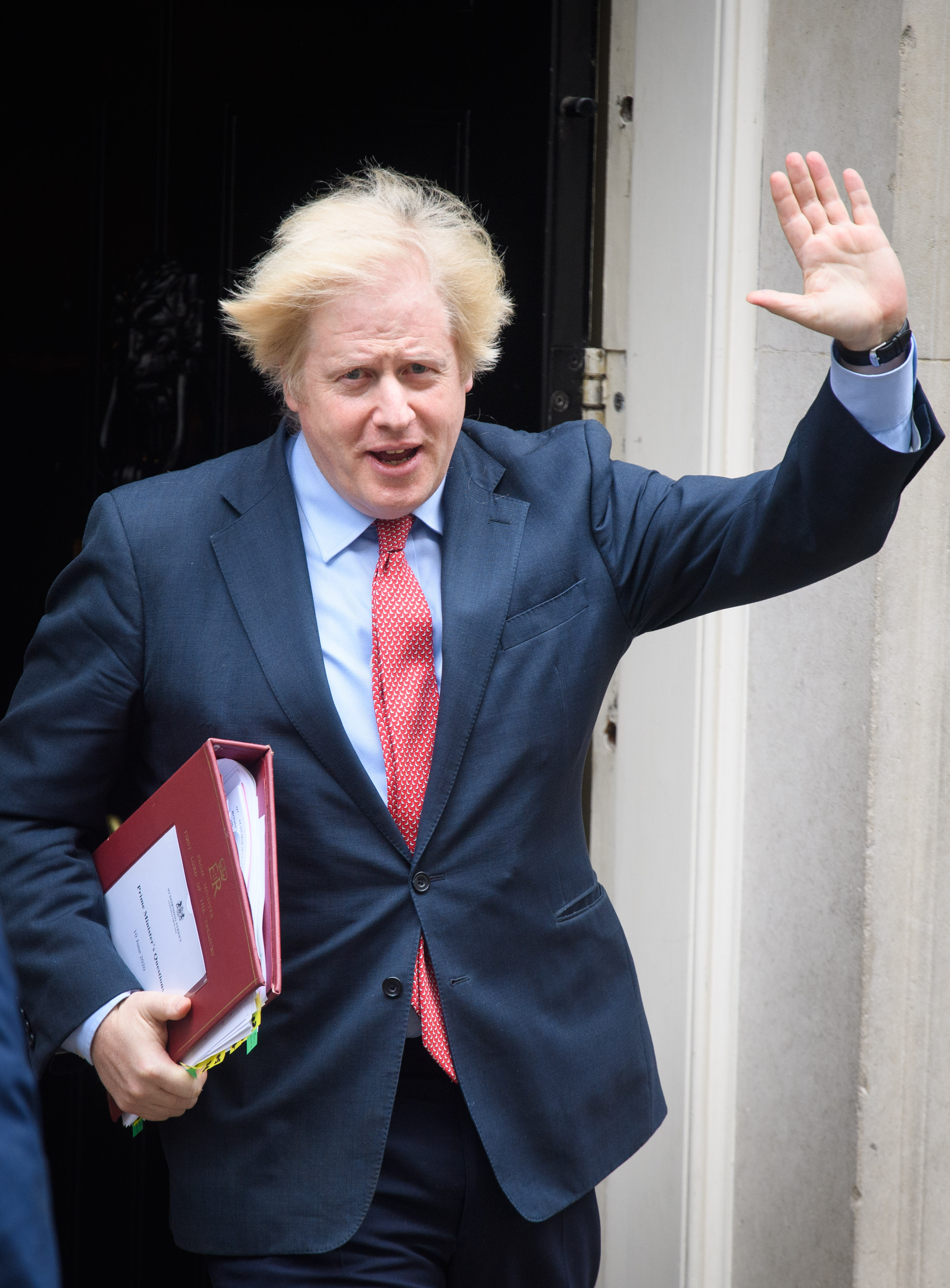 Prime Minister Boris Johnson departs 10 Downing Street, in Westminster, London, to attend Prime Minister's Questions (PMQs) at the Houses of Parliament. Picture date: Wednesday June 10, 2020. Photo credit should read: Matt Crossick/Empics