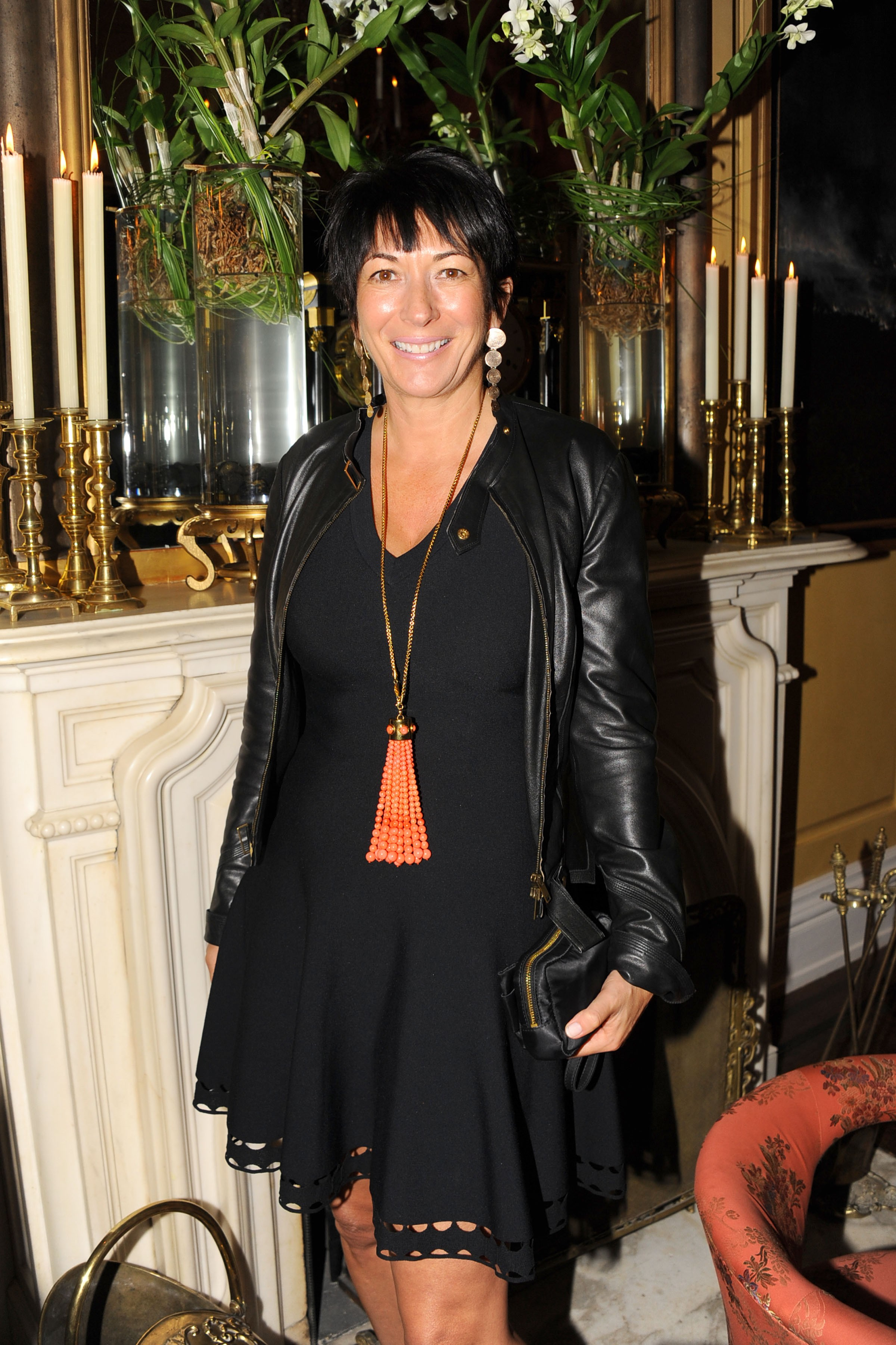 NEW YORK, NY - OCTOBER 21: Ghislaine Maxwell attends BREAKFAST WITH LUCIAN by Geordie Greig at Private Residence on October 21, 2013 in New York City. (Photo by Paul Bruinooge/Patrick McMullan via Getty Images)