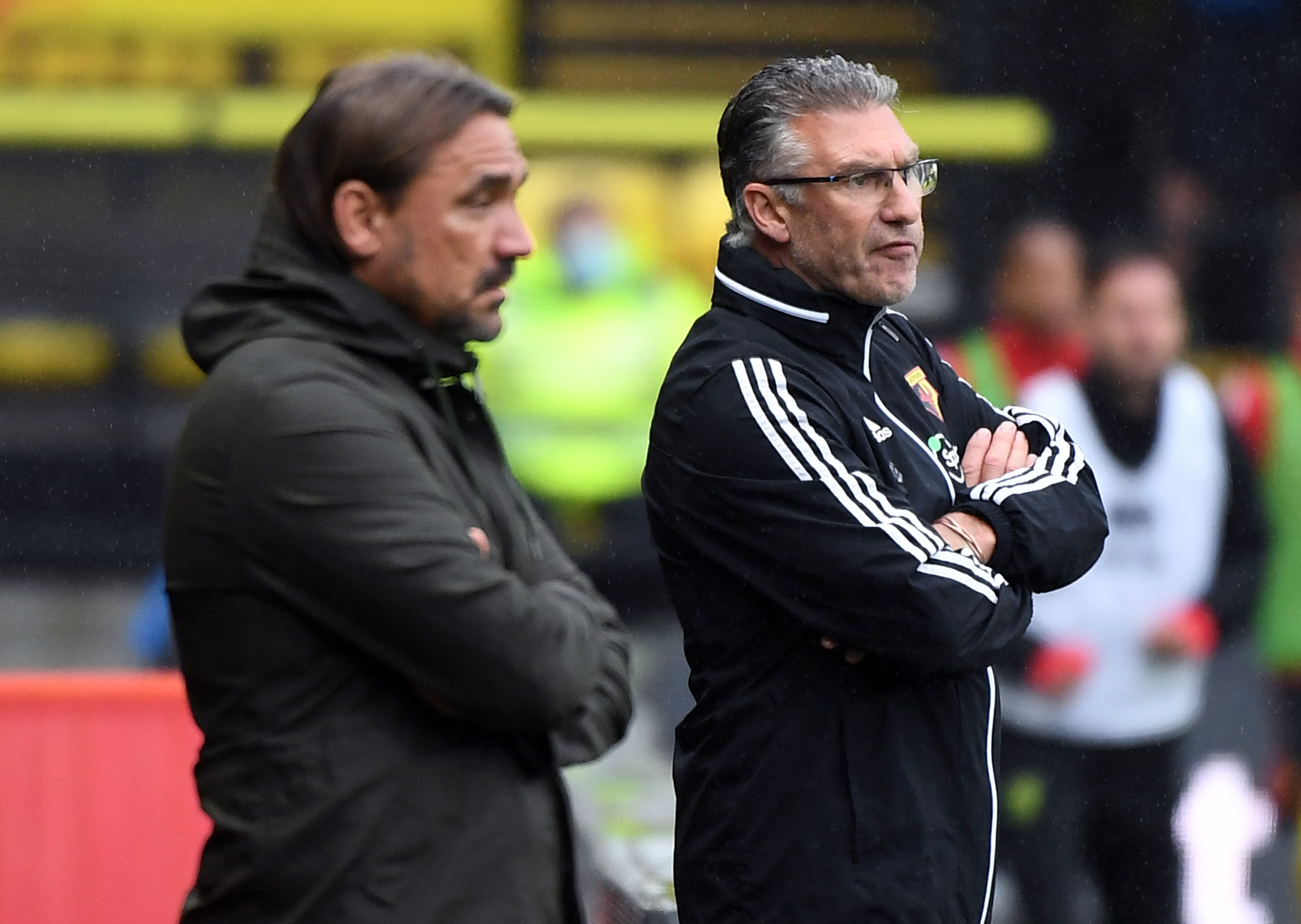Watford manager Nigel Pearson during the Premier League match at Vicarage Road, Watford.