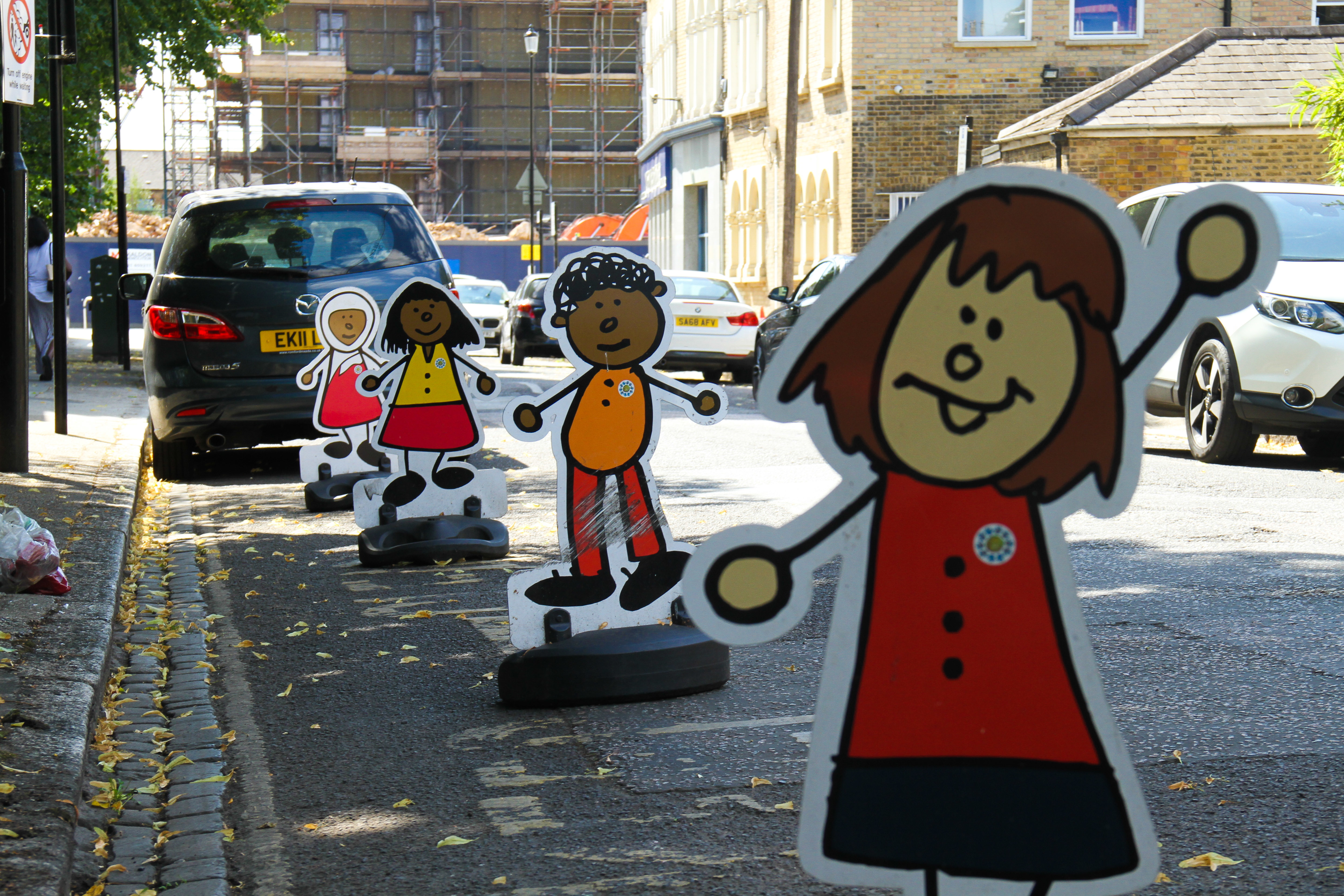 No Parking signs outside a pre-school in East London as most schools closed for the summer term to be reopened in September as per Government advice. (Photo by David Mbiyu / SOPA Images/Sipa USA)
