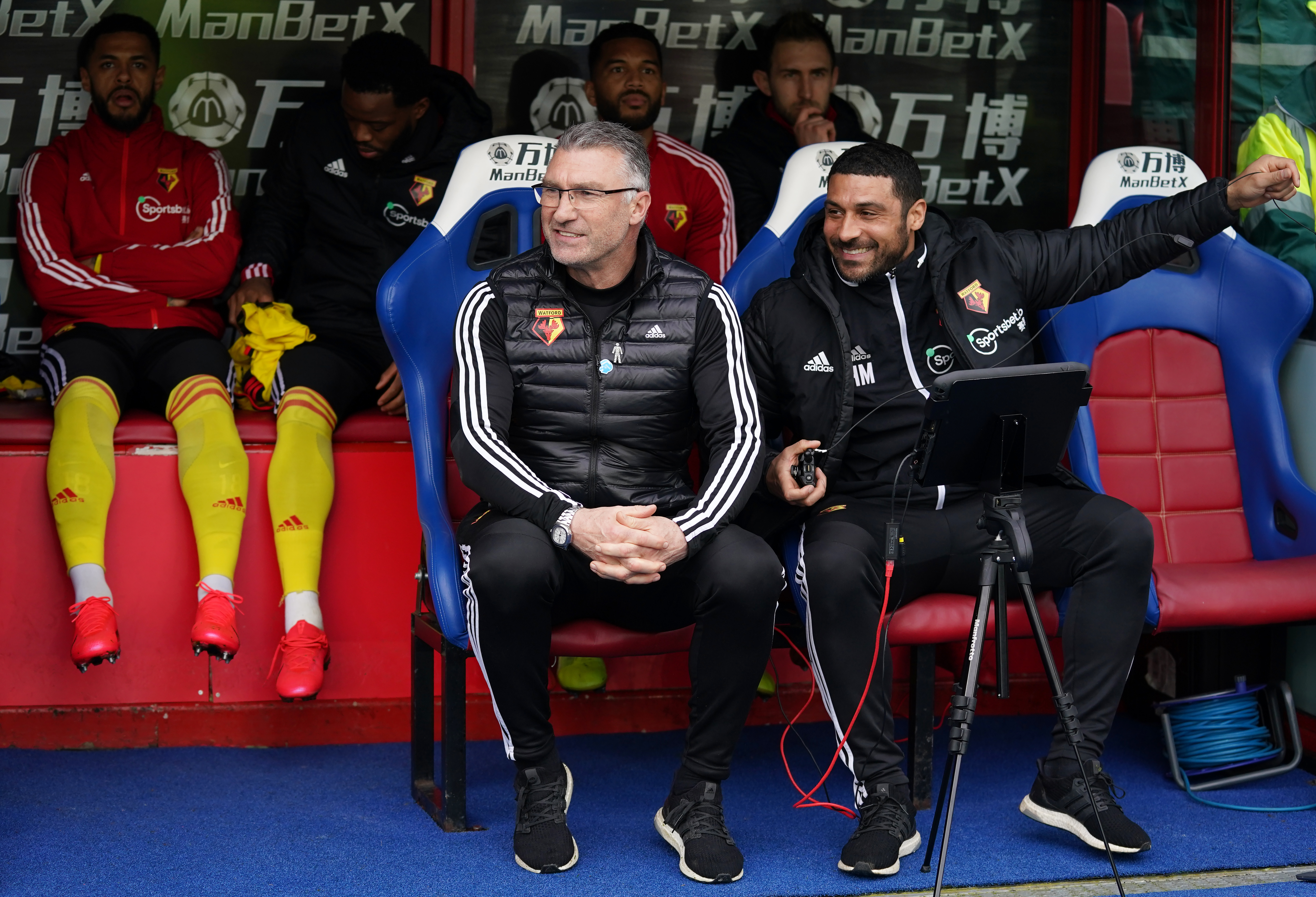 Watford manager Nigel Pearson during the Premier League match at Selhurst Park, London.