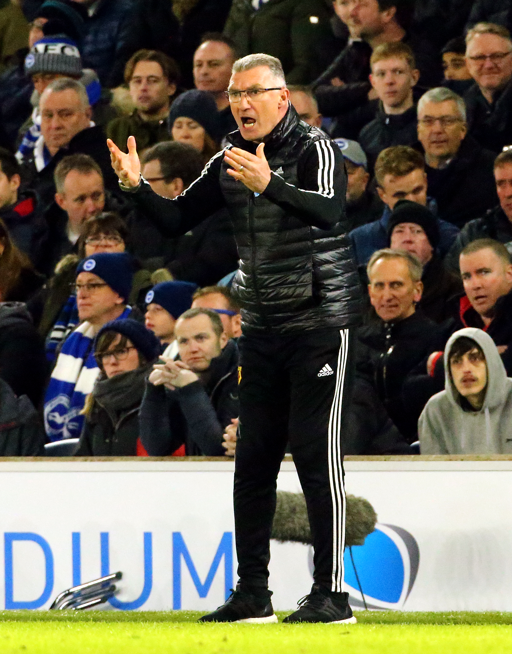 Watford manager Nigel Pearson on the touchline