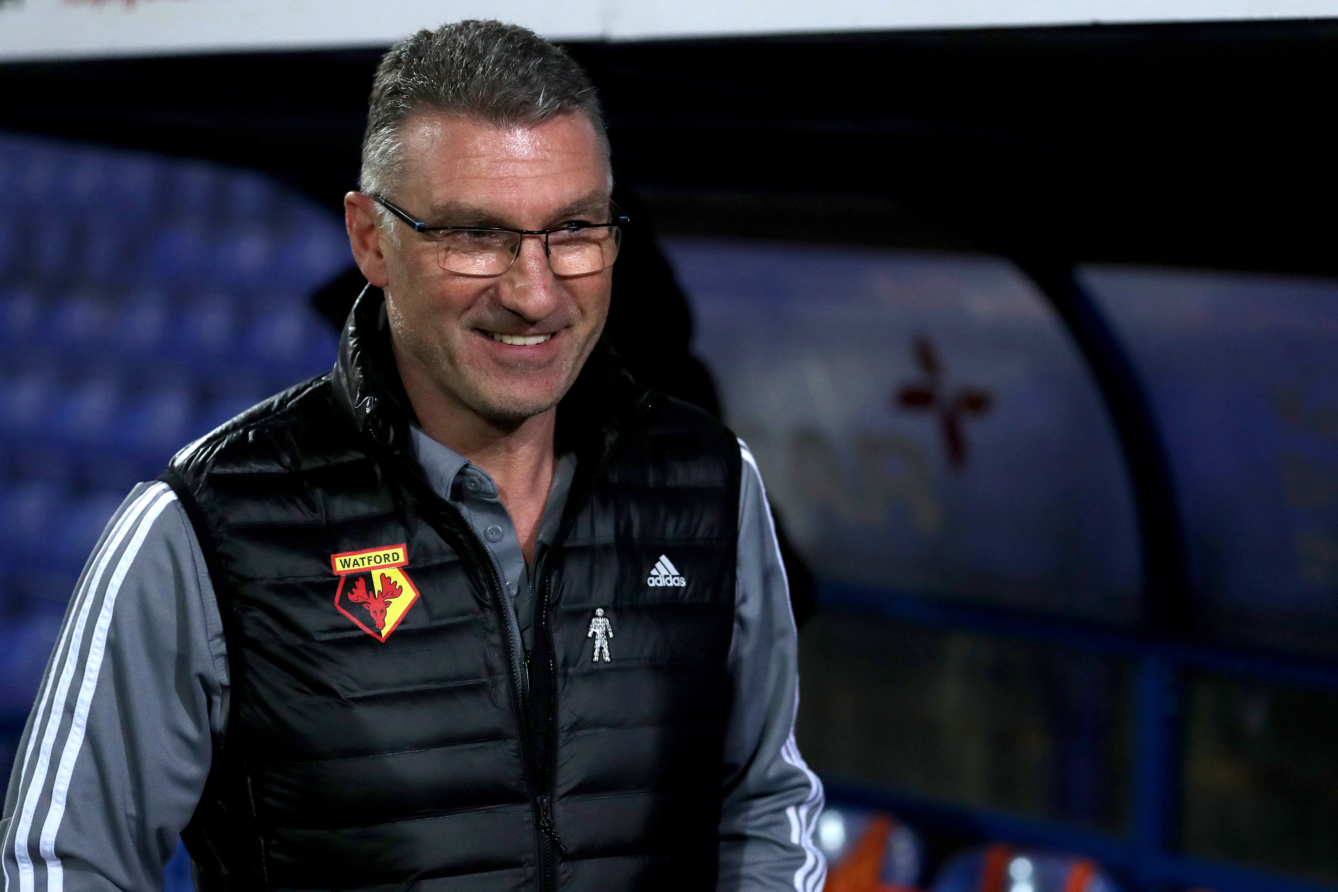 Watford manager Nigel Pearson before the FA Cup third round replay match at Prenton Park, Birkenhead.