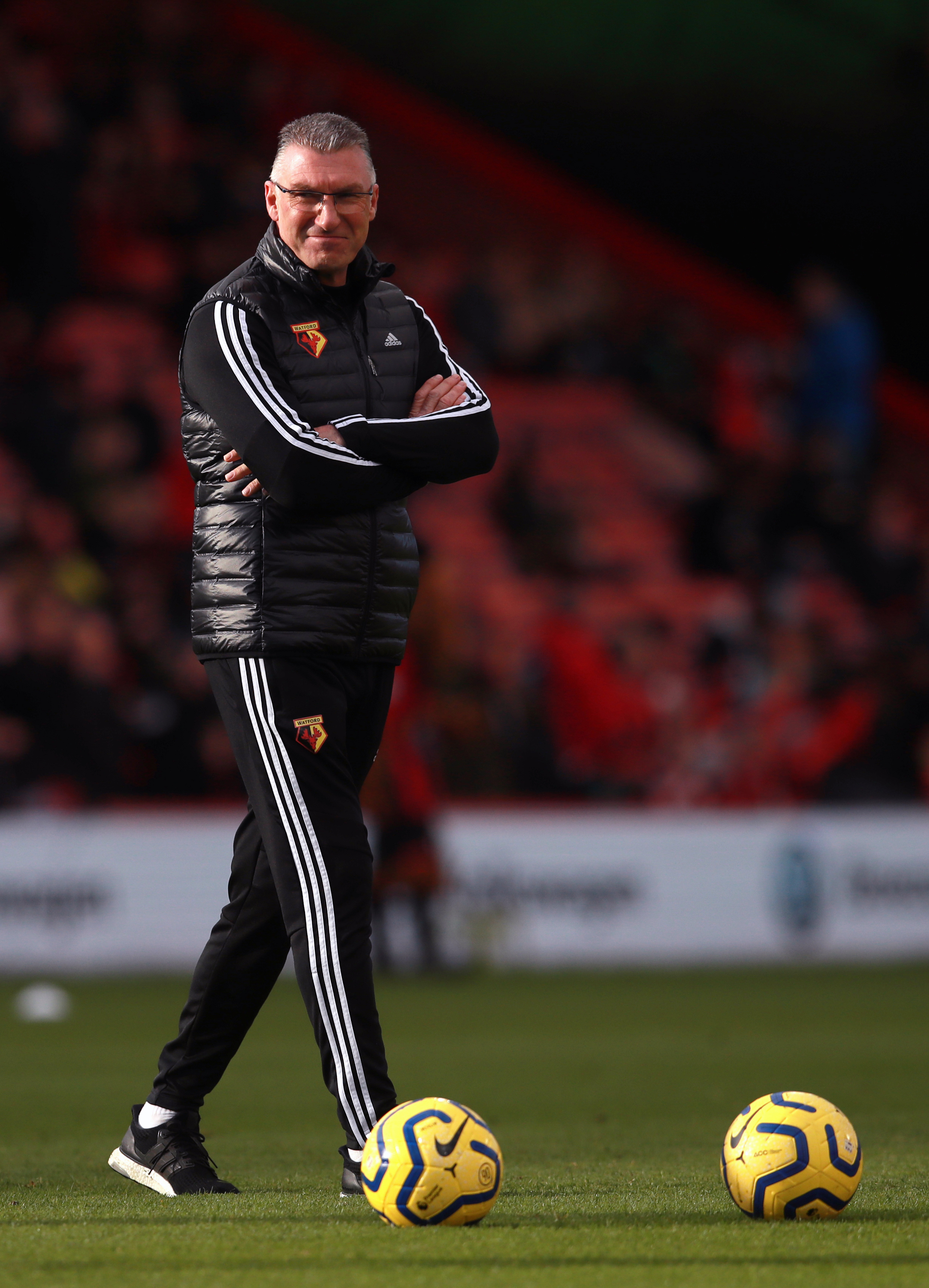 Watford manager Nigel Pearson during the Premier League match at the Vitality Stadium, Bournemouth.