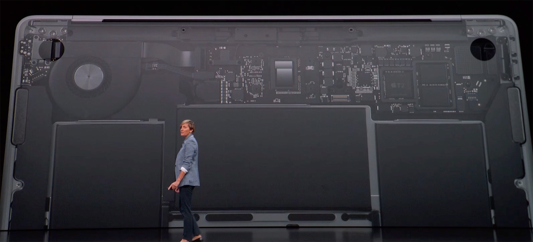 Apple on-stage slide