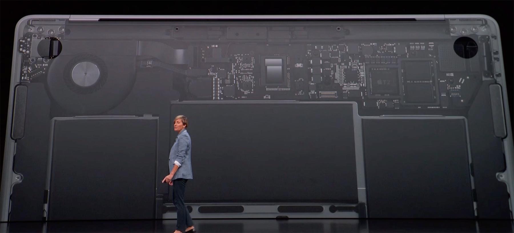 Apple on-stage slide
