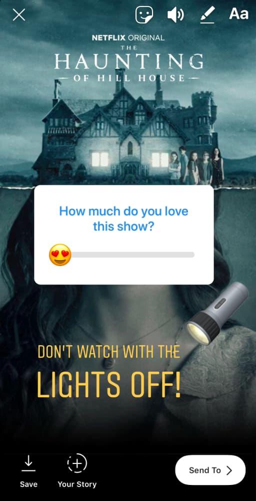 Netflix sharing on Instagram Stories
