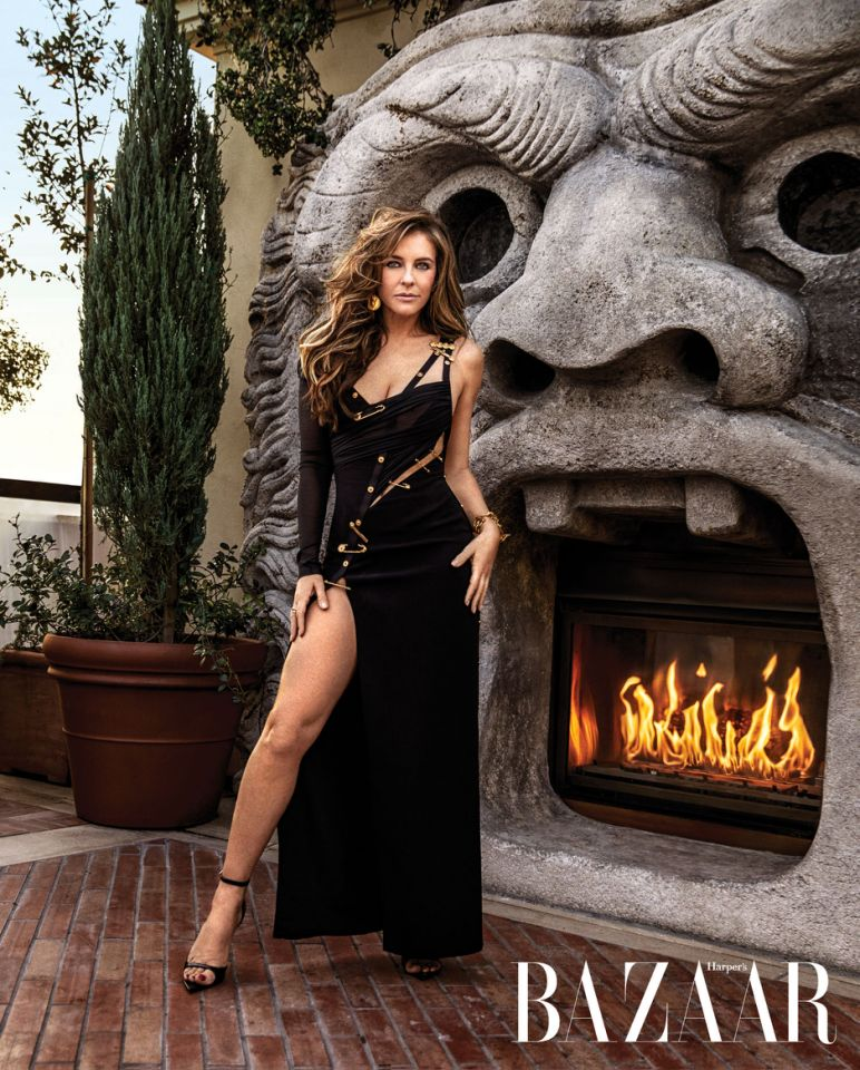 2e44f95da042 Elizabeth Hurley recreates iconic red carpet moment in Versace. (Photo:  Damon Baker)