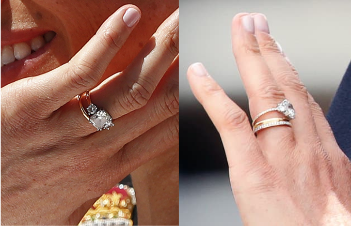 report meghan markle made a major upgrade to her engagement ring aol lifestyle major upgrade to her engagement ring