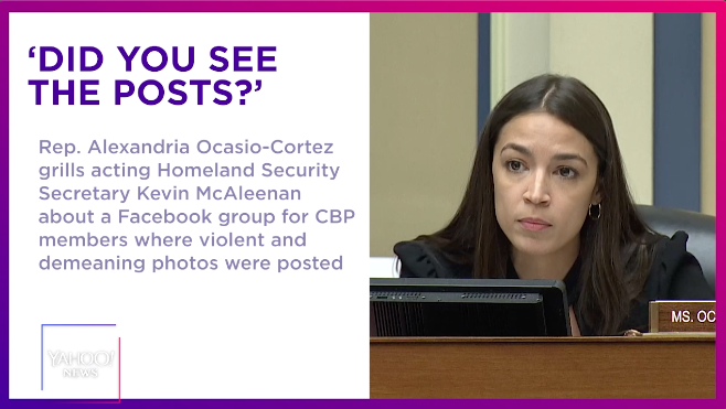 AOC grills acting DHS secretary about CBP Facebook group