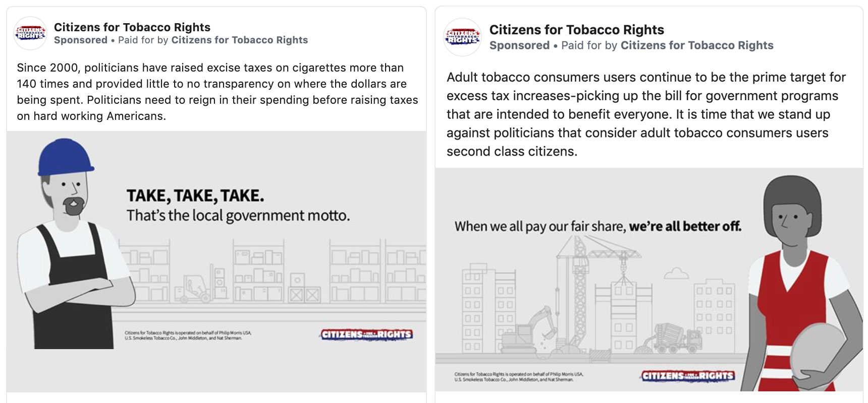 Big tobacco keeps starting 'grassroots' Facebook campaigns