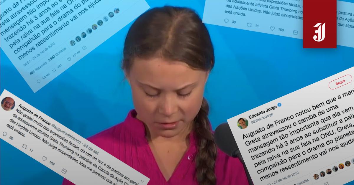 O machismo daqueles que atacaram o discurso de Greta ...