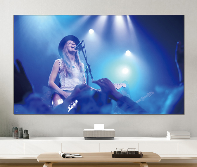 LS500 Laser Projection TV image