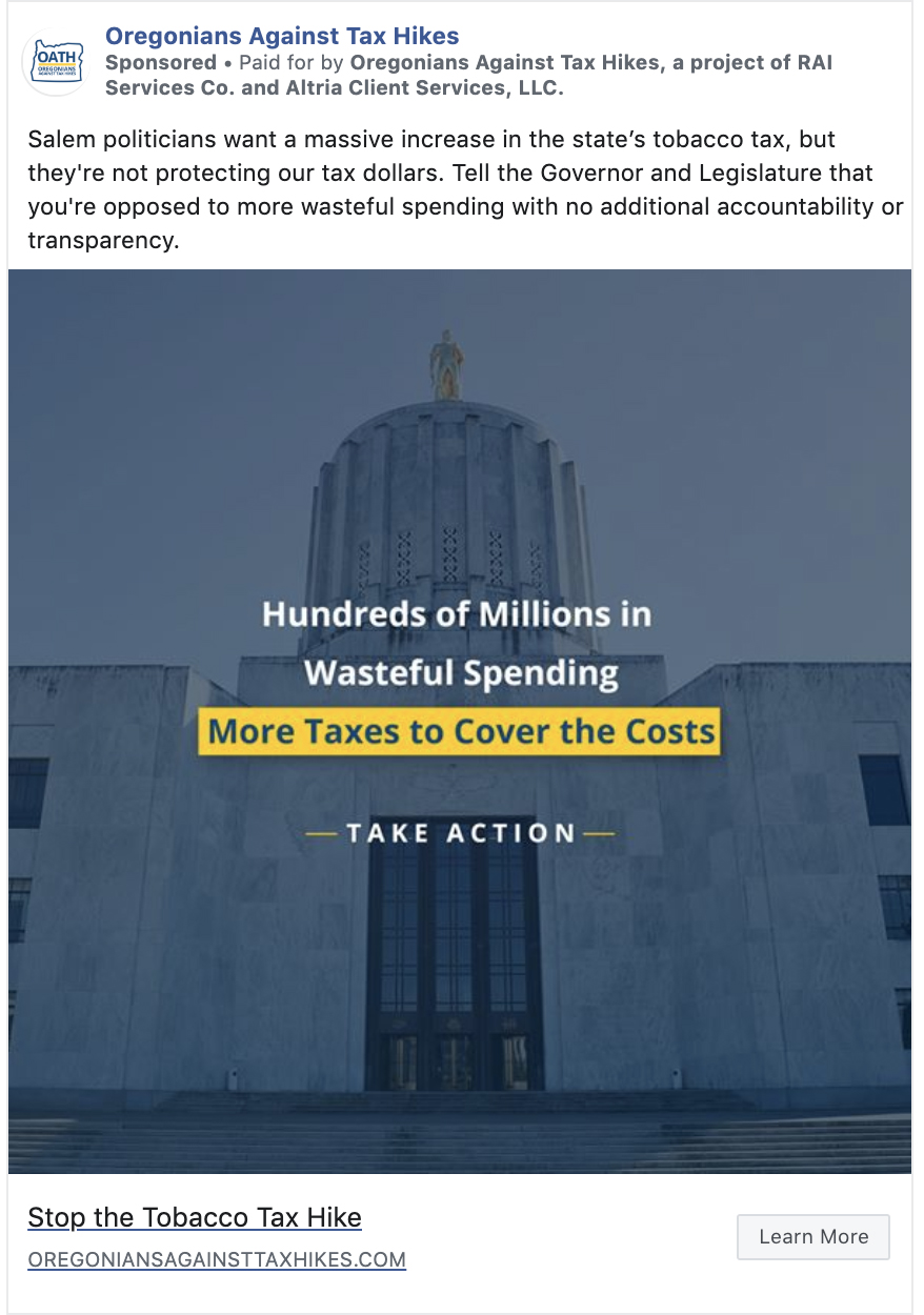 Oregonians against Tax Hikes